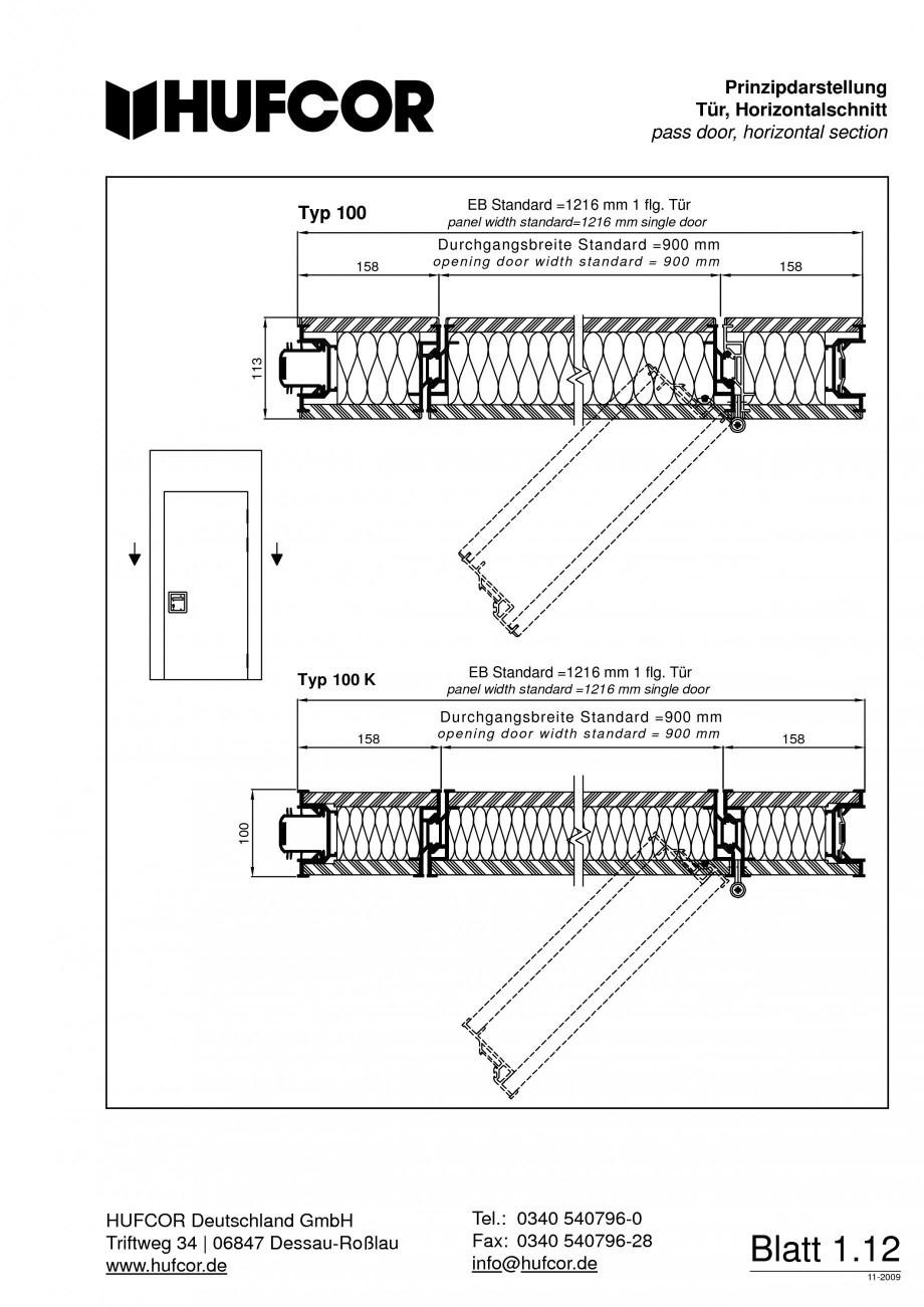 Pagina 13 - Pereti amovibili HUFCOR Fisa tehnica Engleza, Germana  e l height auch als...