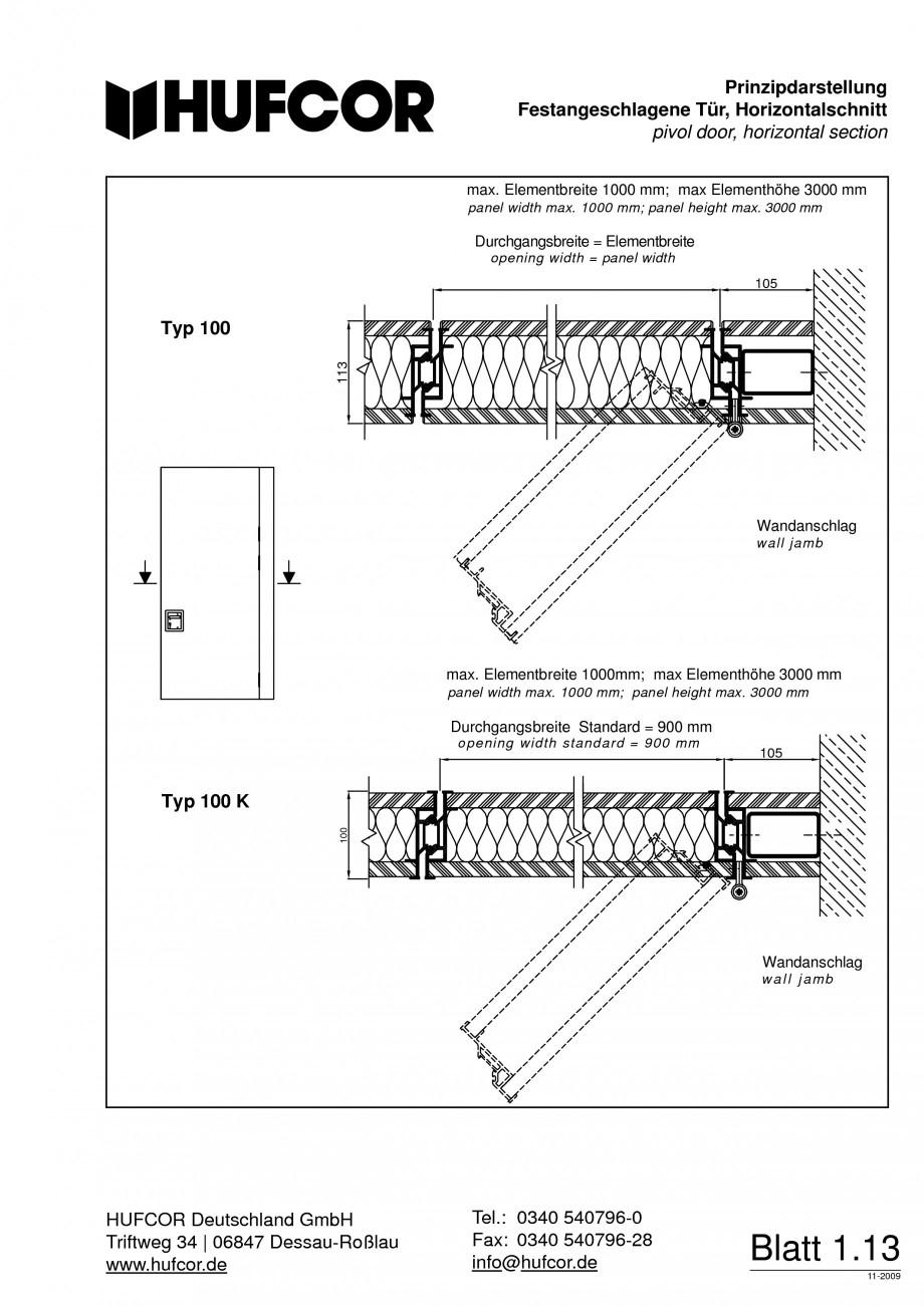 Pagina 14 - Pereti amovibili HUFCOR Fisa tehnica Engleza, Germana  Deutschland GmbH Triftweg 34...