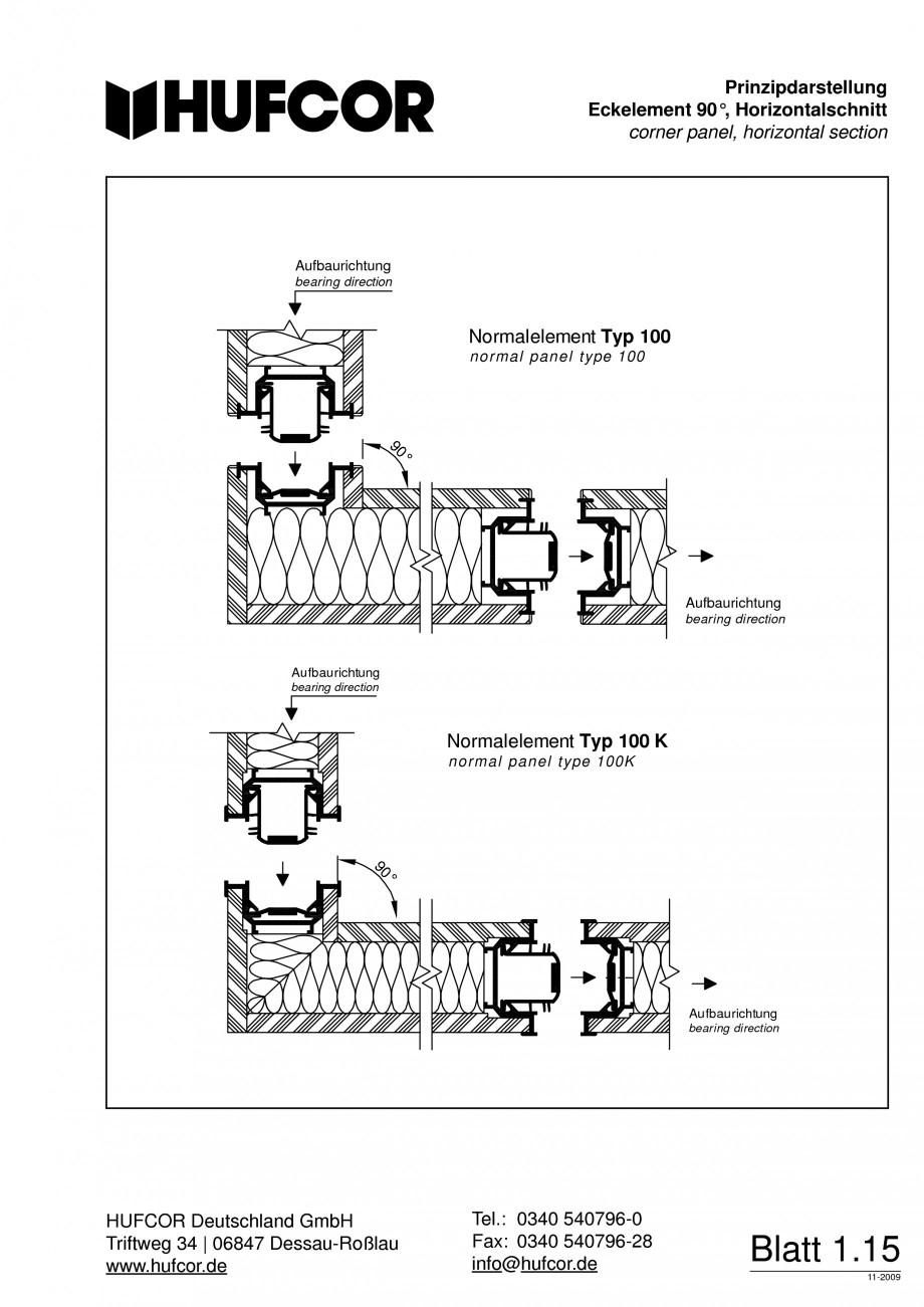 Pagina 16 - Pereti amovibili HUFCOR Fisa tehnica Engleza, Germana  HUFCOR Deutschland GmbH HUFCOR...