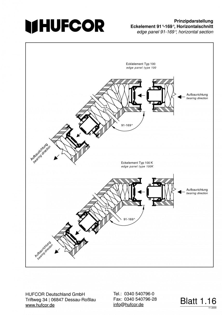 Pagina 17 - Pereti amovibili HUFCOR Fisa tehnica Engleza, Germana 0 54 07 96-28  info@hufcor.de ...