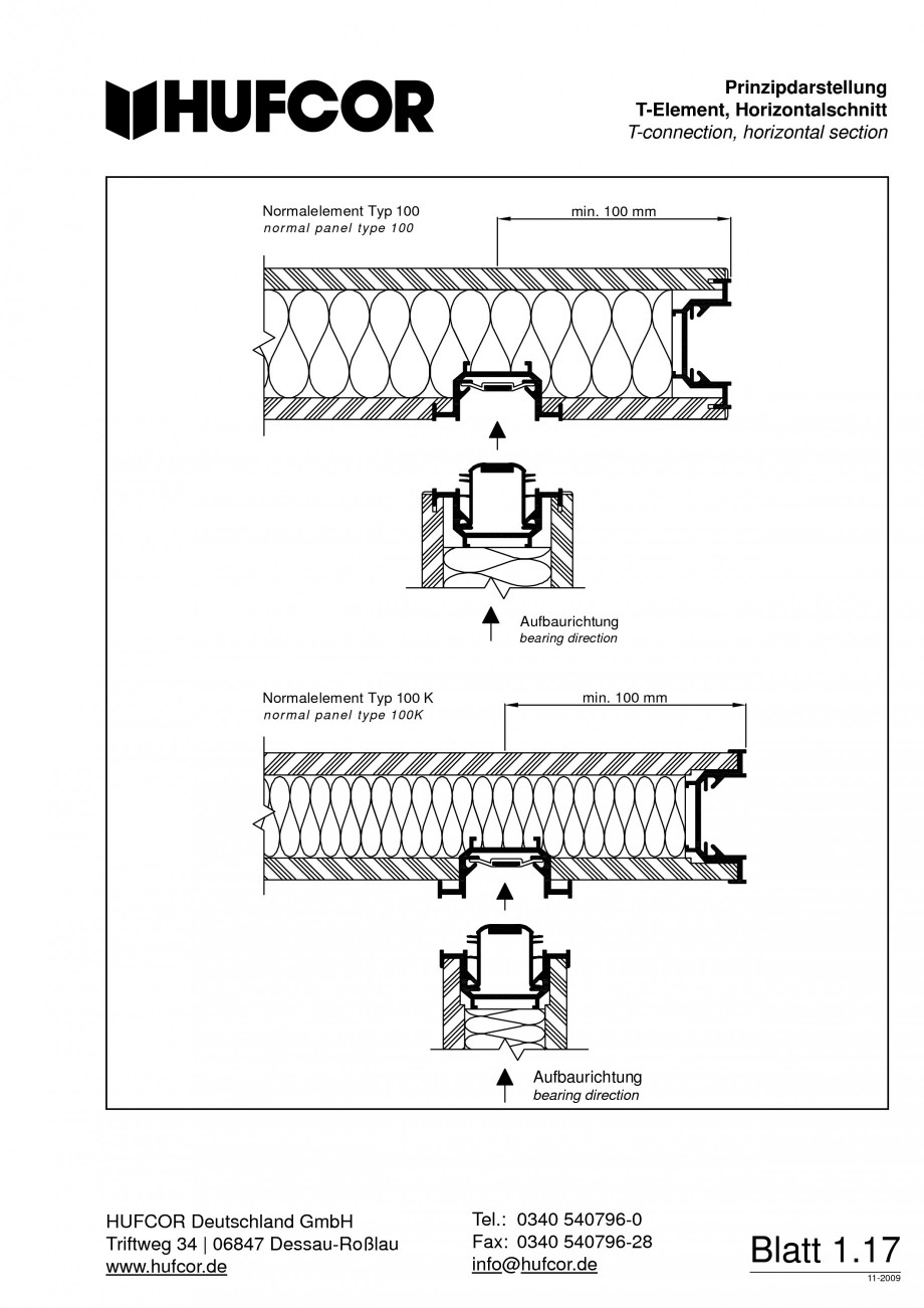 Pagina 18 - Pereti amovibili HUFCOR Fisa tehnica Engleza, Germana R Deutschland GmbH HUFCOR...