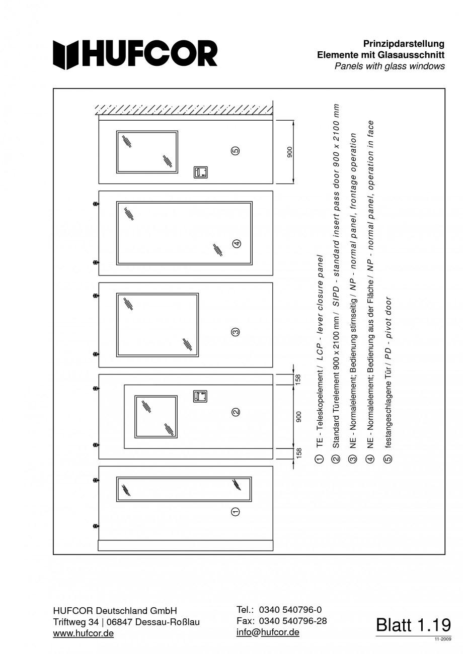 Pagina 20 - Pereti amovibili HUFCOR Fisa tehnica Engleza, Germana -28 info@hufcor.de  Blatt 1.20...