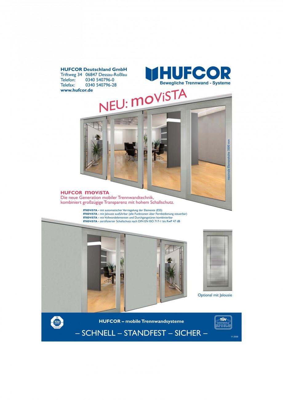 Pagina 26 - Pereti amovibili HUFCOR Fisa tehnica Engleza, Germana  panel (SP)  moVISTA...