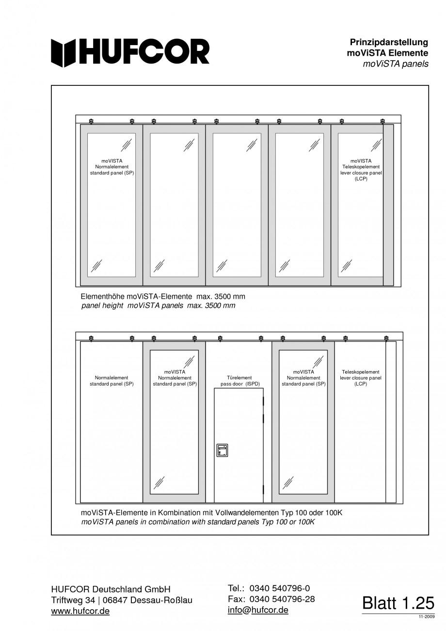 Pagina 27 - Pereti amovibili HUFCOR Fisa tehnica Engleza, Germana ent Typ 100  moViSTA Normalelement...