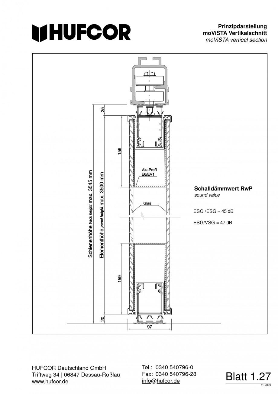 Pagina 29 - Pereti amovibili HUFCOR Fisa tehnica Engleza, Germana Telefon: 0340 540796-0 Telefax:...