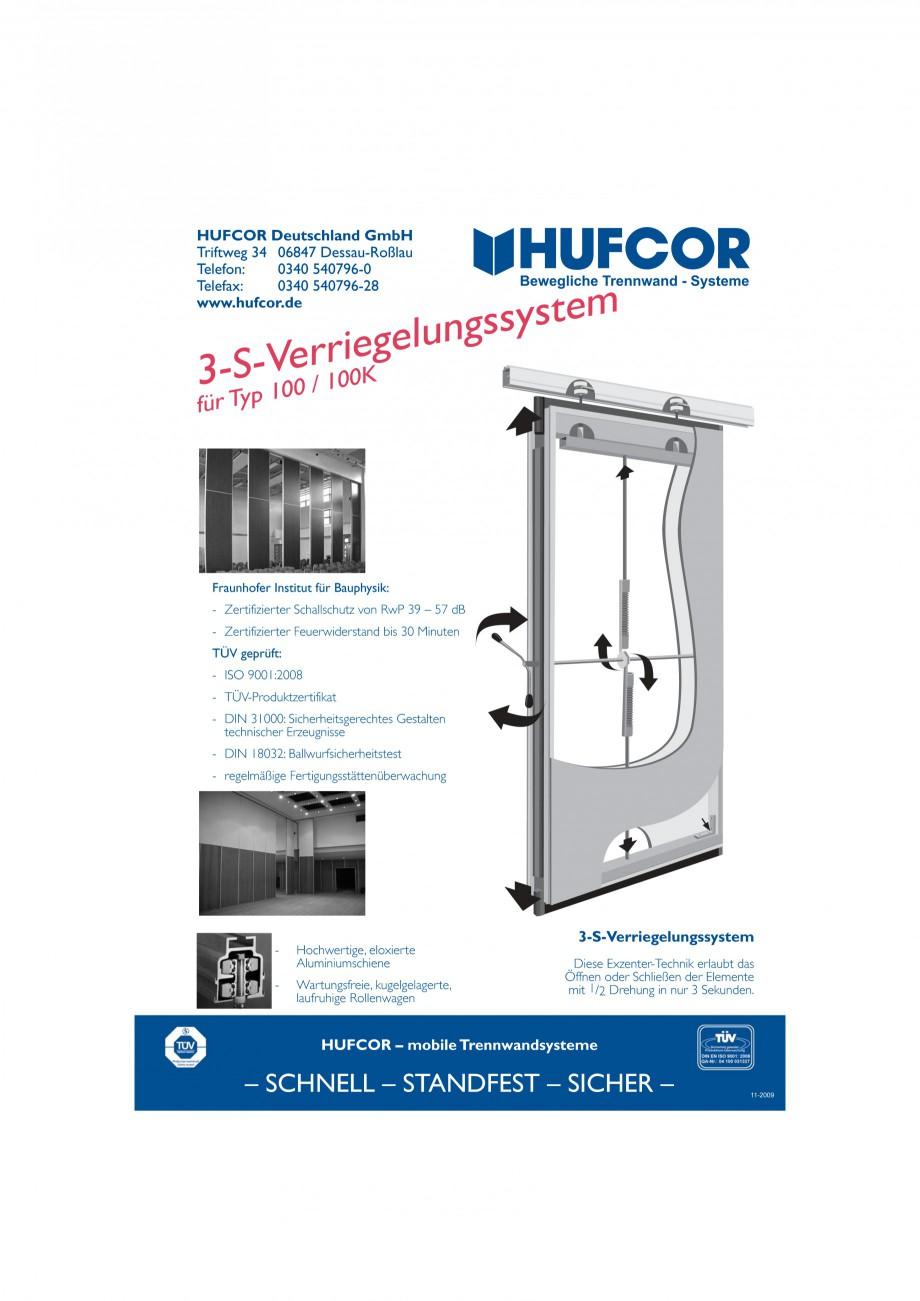 Pagina 30 - Pereti amovibili HUFCOR Fisa tehnica Engleza, Germana S  Technische Beschreibung  Die...