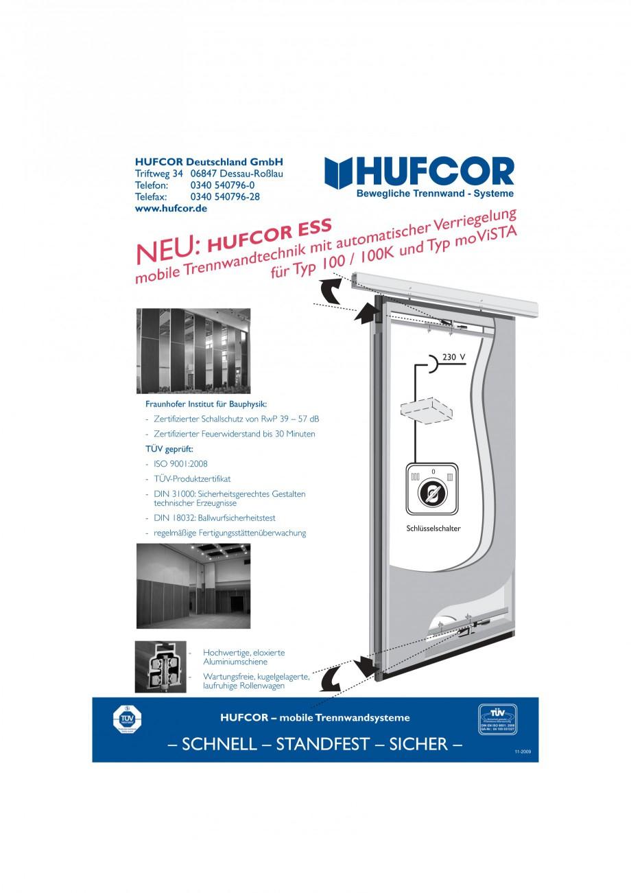 Pagina 31 - Pereti amovibili HUFCOR Fisa tehnica Engleza, Germana zur Bedienung der...