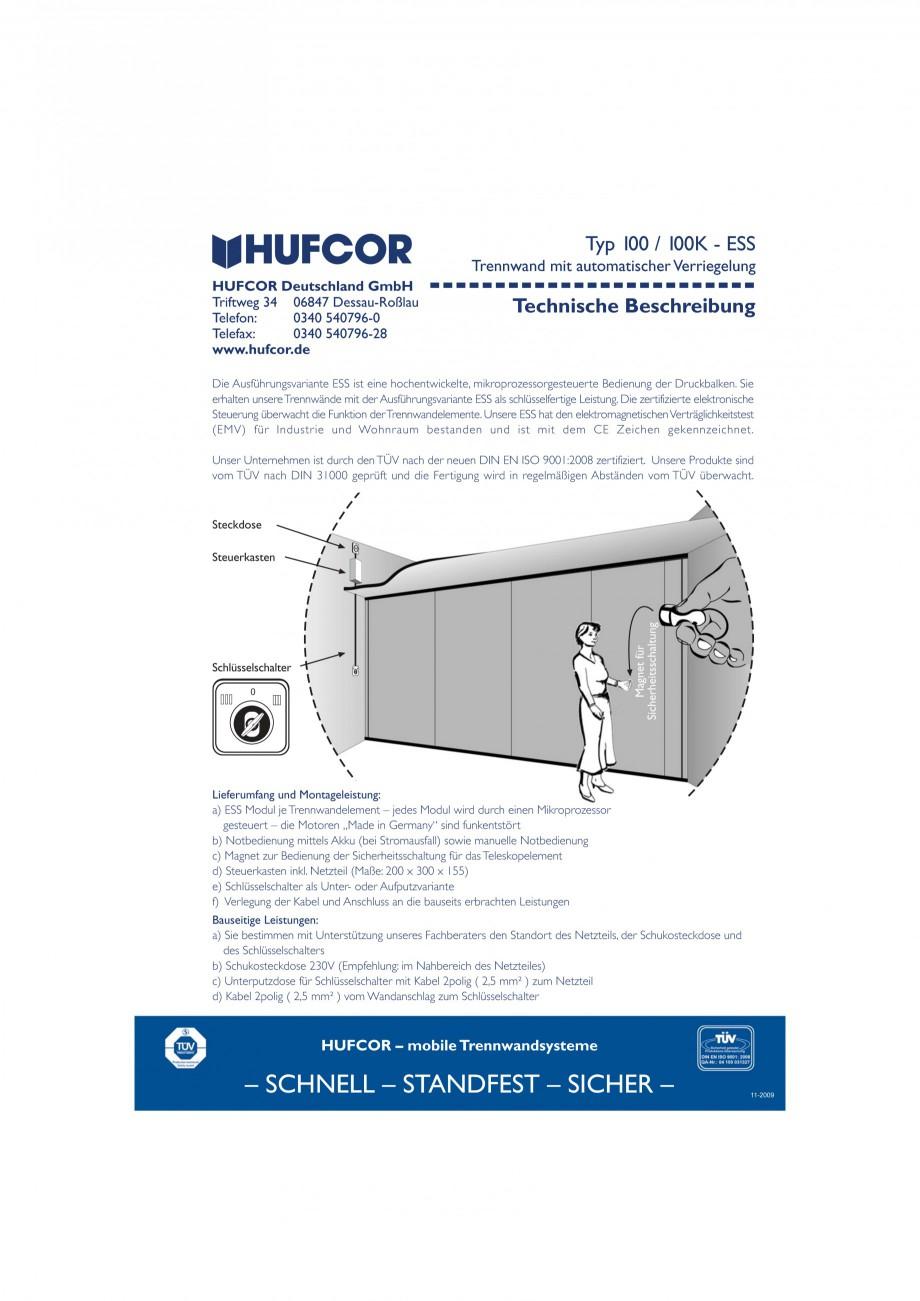 Pagina 32 - Pereti amovibili HUFCOR Fisa tehnica Engleza, Germana bung  Sind die bauseitigen...