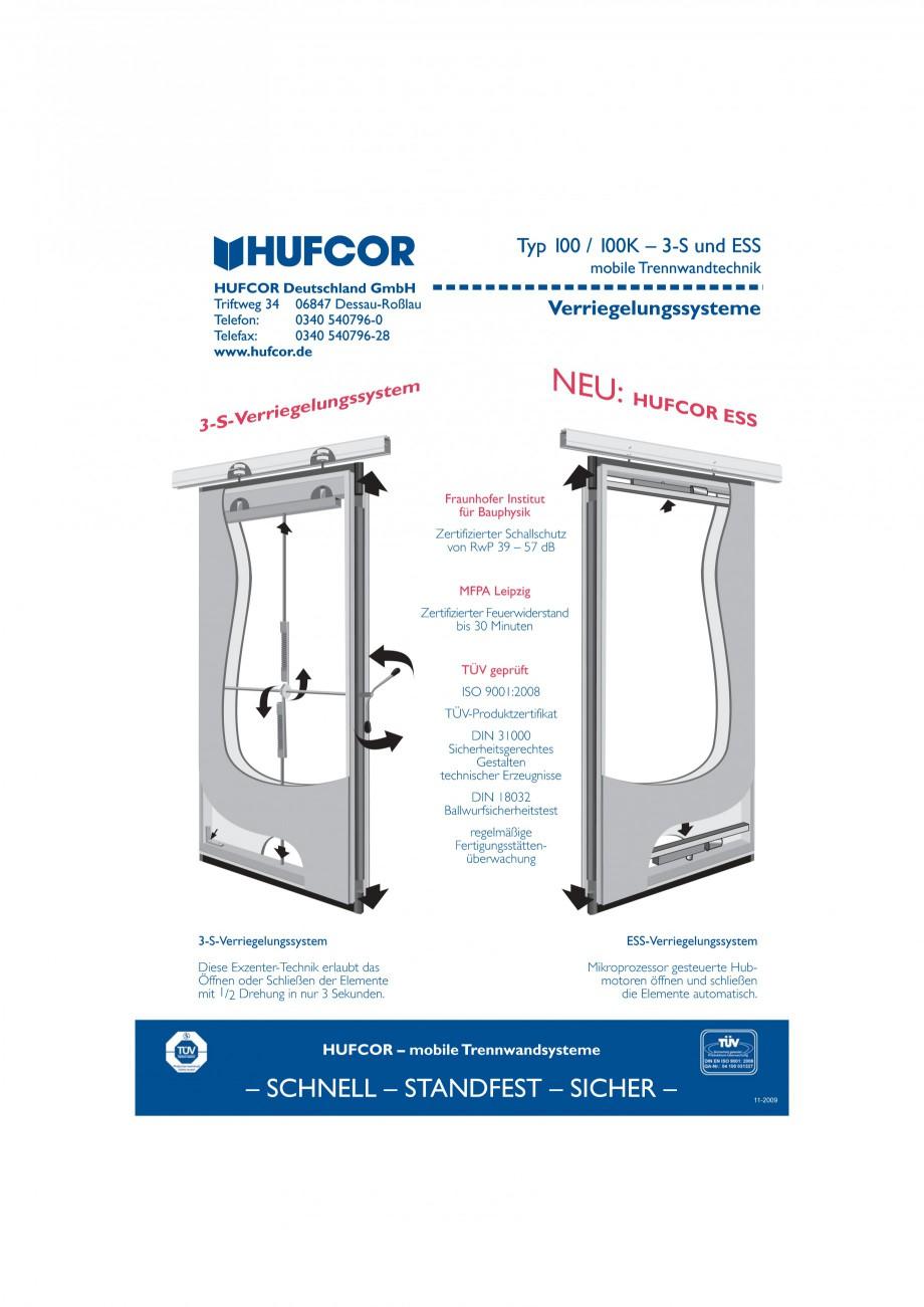 Pagina 34 - Pereti amovibili HUFCOR Fisa tehnica Engleza, Germana OR Deutschland GmbH Triftweg 34...