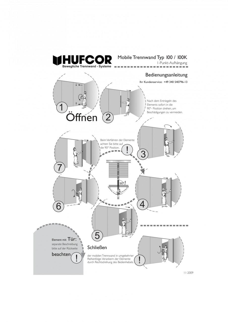 Pagina 35 - Pereti amovibili HUFCOR Fisa tehnica Engleza, Germana anleitung Ihr Kundenservice: +49...