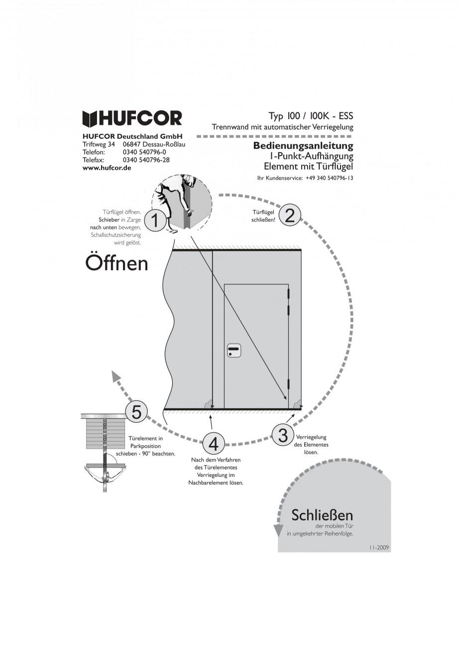 Pagina 38 - Pereti amovibili HUFCOR Fisa tehnica Engleza, Germana 9  Seite 1  Mobile Trennwand Typ...