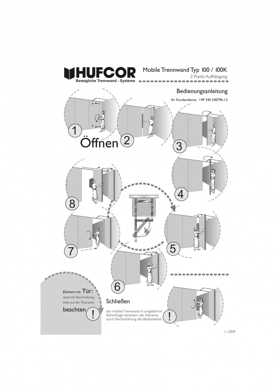 Pagina 39 - Pereti amovibili HUFCOR Fisa tehnica Engleza, Germana ieben. Nach dem Verfahren des...