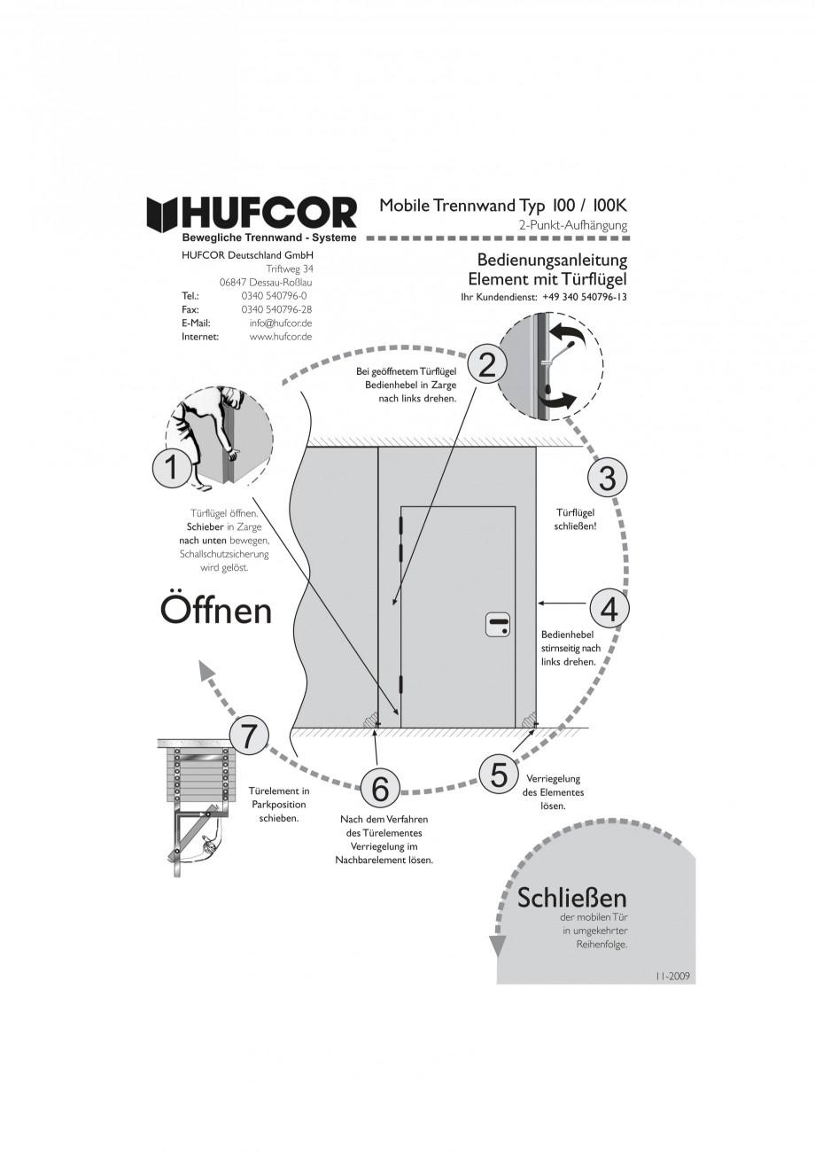 Pagina 40 - Pereti amovibili HUFCOR Fisa tehnica Engleza, Germana :27:20 2009  Seite 1  HUFCOR...