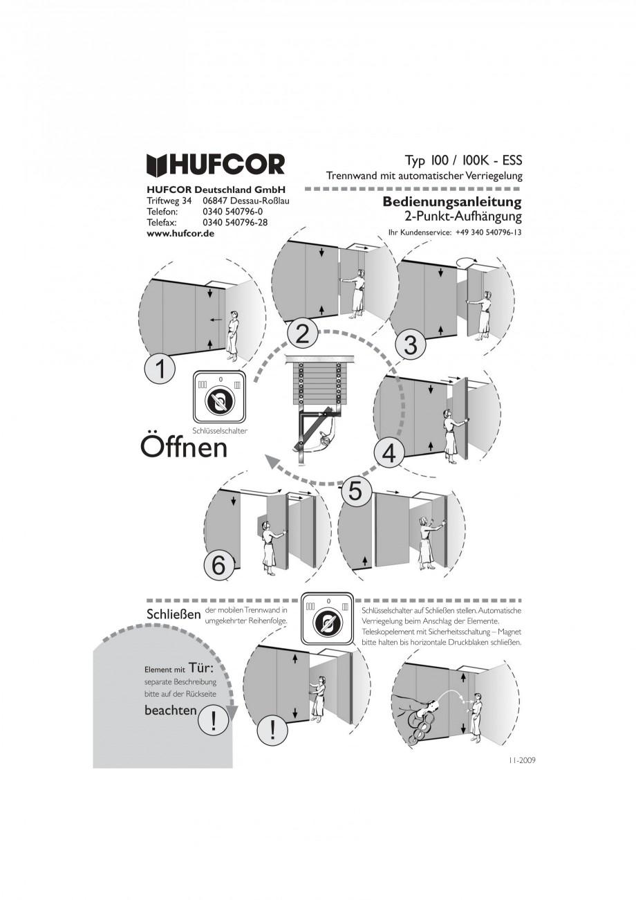 Pagina 41 - Pereti amovibili HUFCOR Fisa tehnica Engleza, Germana flüglige Tür Ihr Kundenservice: ...
