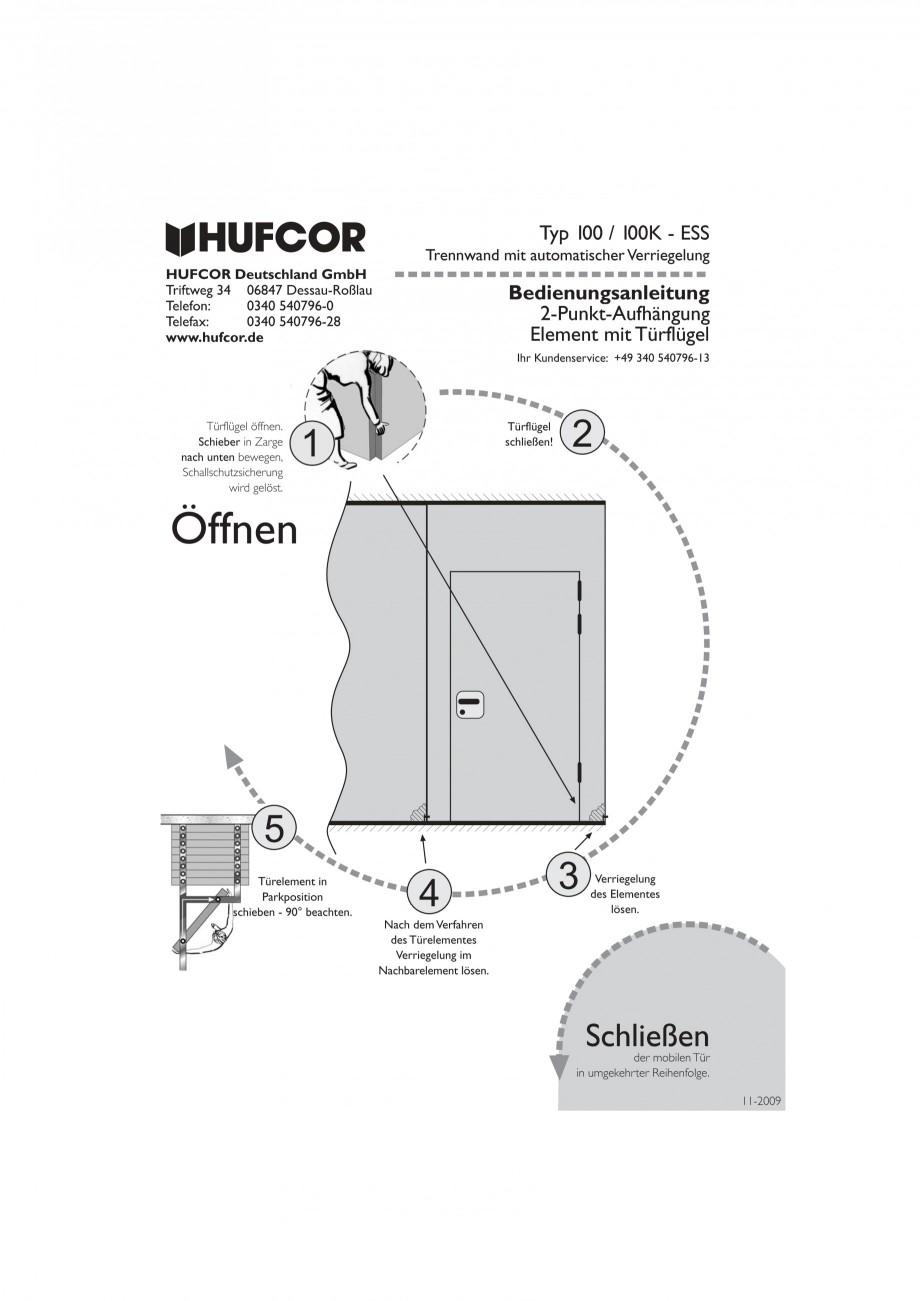 Pagina 42 - Pereti amovibili HUFCOR Fisa tehnica Engleza, Germana yp G 3000 Technische Details...