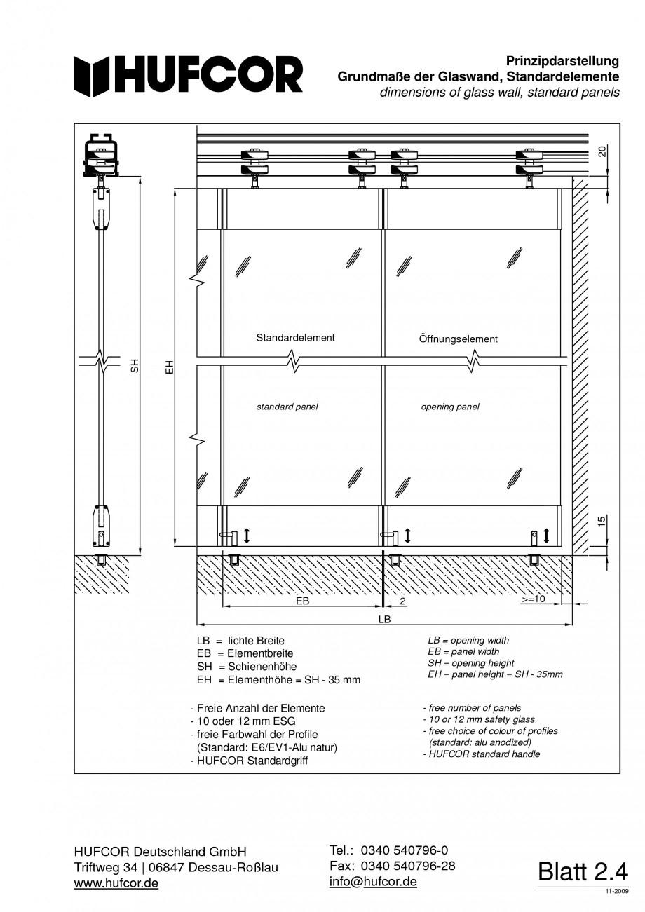 Pagina 48 - Pereti amovibili HUFCOR Fisa tehnica Engleza, Germana chland GmbH Triftweg 34 Triftweg...