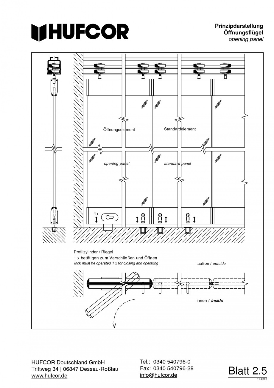 Pagina 49 - Pereti amovibili HUFCOR Fisa tehnica Engleza, Germana erung Türflügel beim Verfahren...