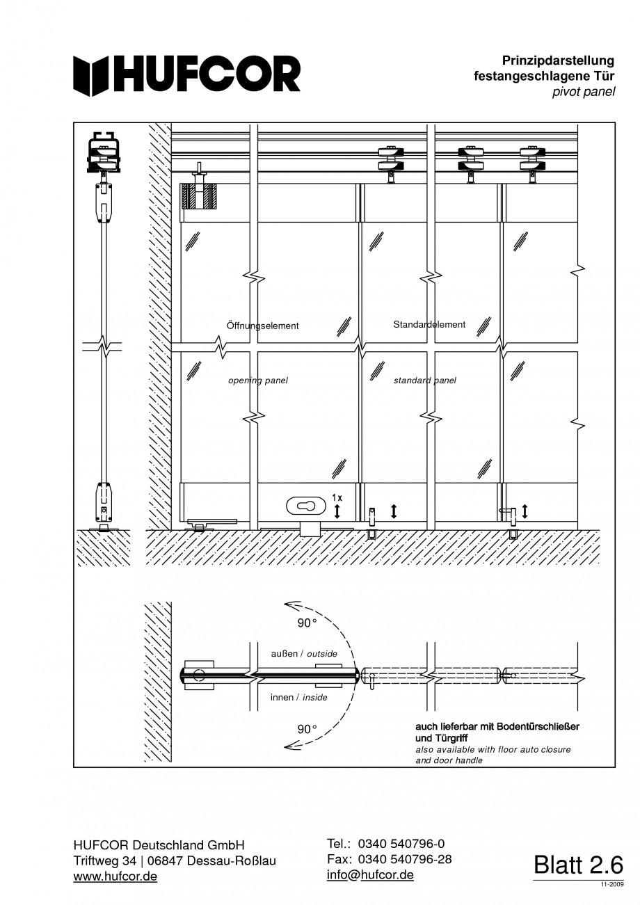 Pagina 50 - Pereti amovibili HUFCOR Fisa tehnica Engleza, Germana 28 E-Mail: info@hufcor.de...