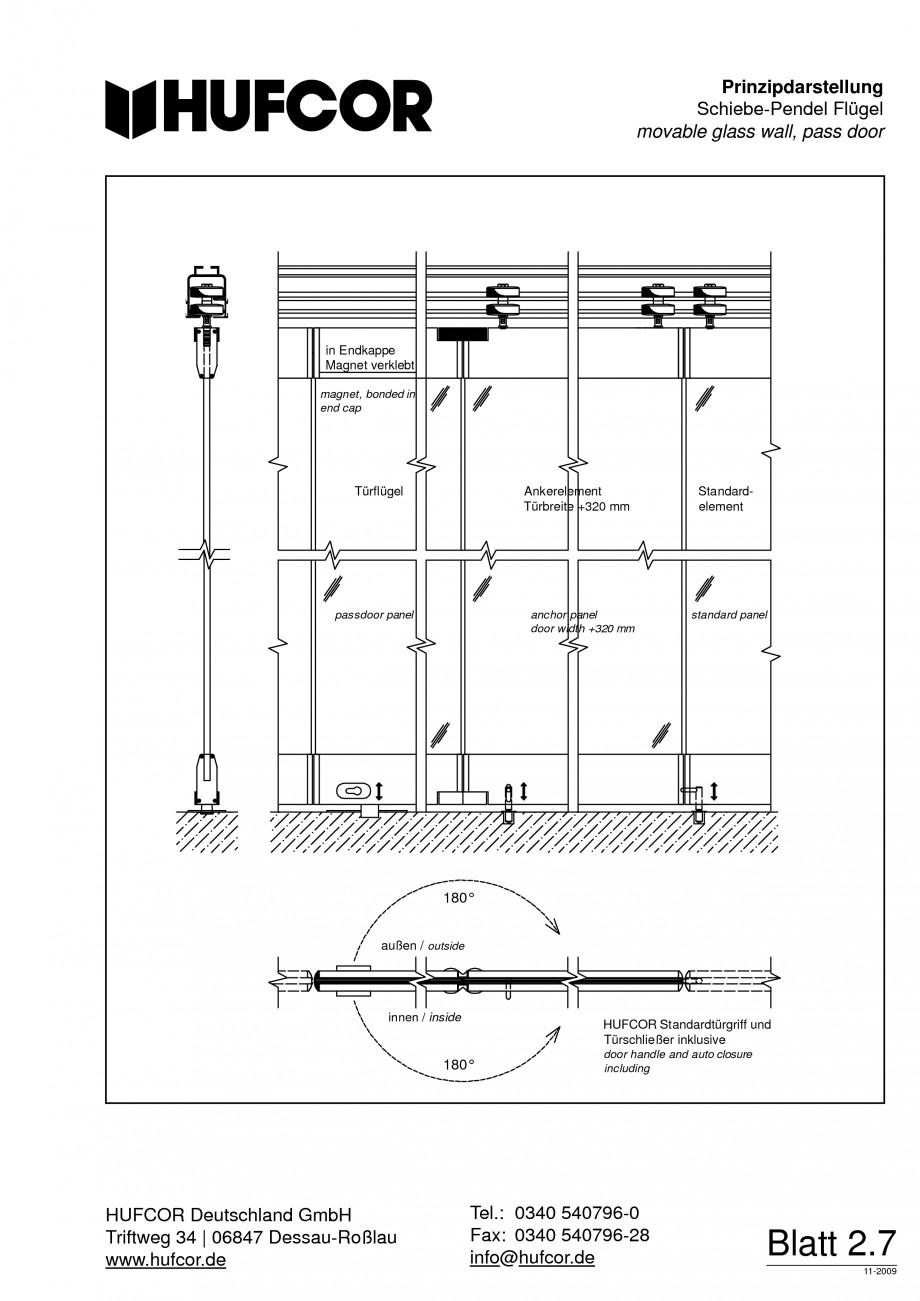 Pagina 51 - Pereti amovibili HUFCOR Fisa tehnica Engleza, Germana gel.  Automatische Arretierung der...