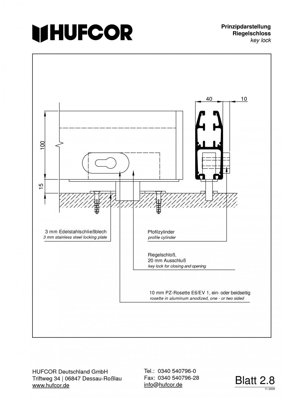Pagina 52 - Pereti amovibili HUFCOR Fisa tehnica Engleza, Germana punktaufhängung  Typ 38  Typ 40  ...