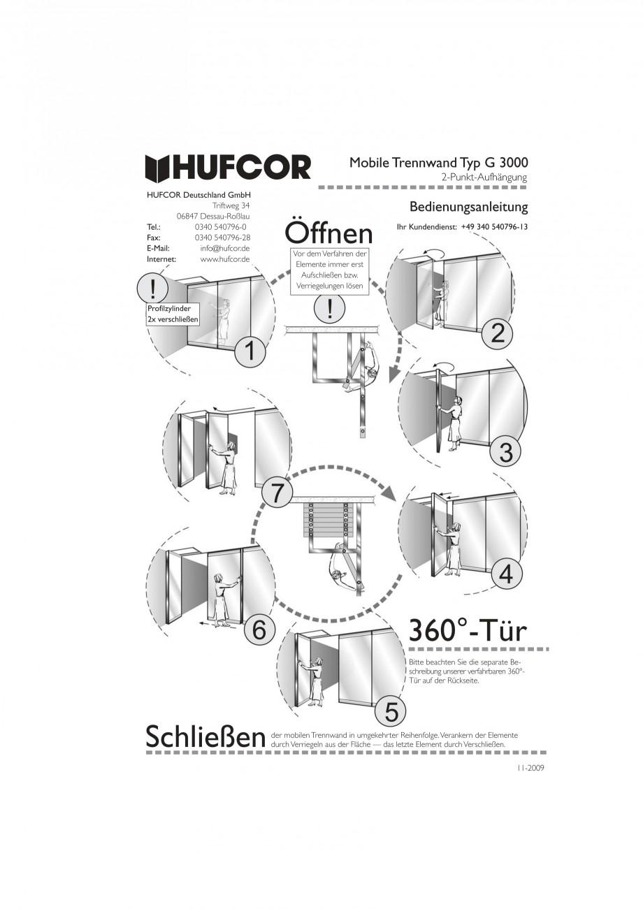Pagina 55 - Pereti amovibili HUFCOR Fisa tehnica Engleza, Germana fil t - profile  20  57  20  up to...