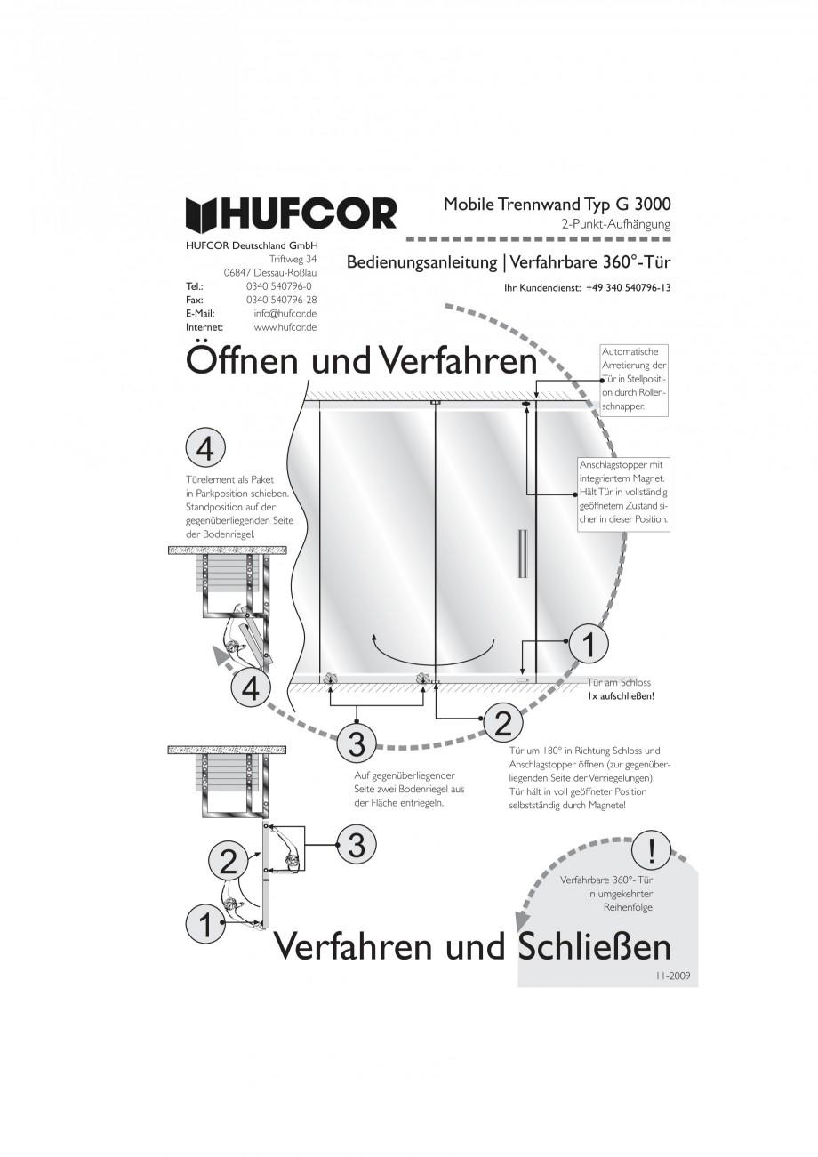 Pagina 56 - Pereti amovibili HUFCOR Fisa tehnica Engleza, Germana 5 mm Gipskarton bis 48 dB einlagig...
