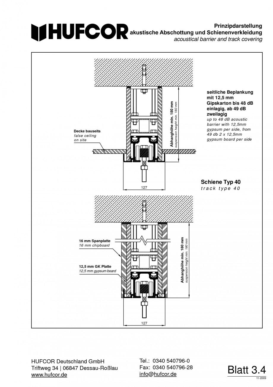 Pagina 61 - Pereti amovibili HUFCOR Fisa tehnica Engleza, Germana ierbreiten sind innerhalb einer...