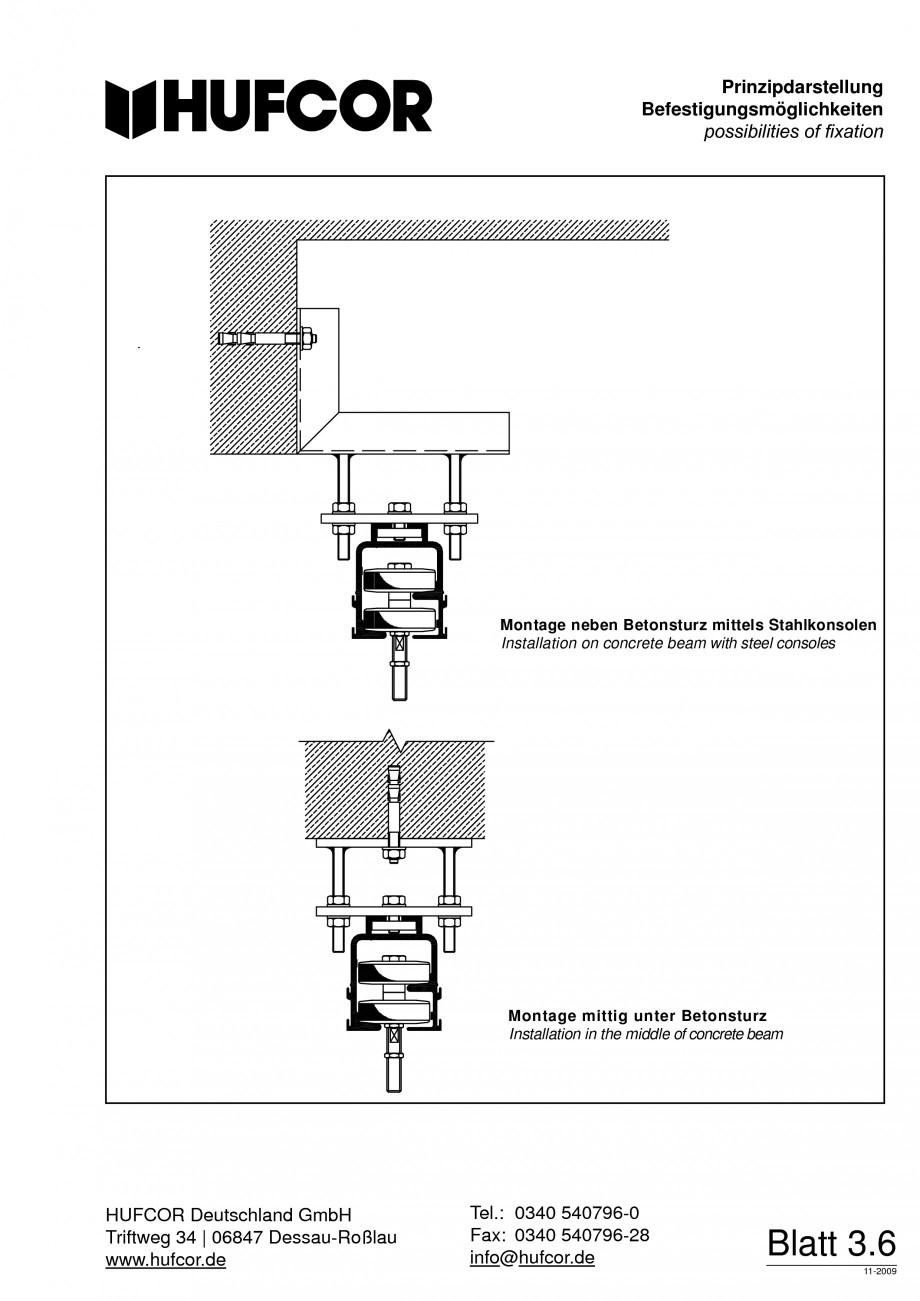 Pagina 63 - Pereti amovibili HUFCOR Fisa tehnica Engleza, Germana 8 Tel.: +49 3 40 54 07 96-0 Fax:...
