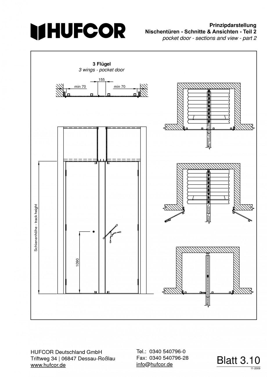 Pagina 67 - Pereti amovibili HUFCOR Fisa tehnica Engleza, Germana kentferner Zusätzliche Behandlung...