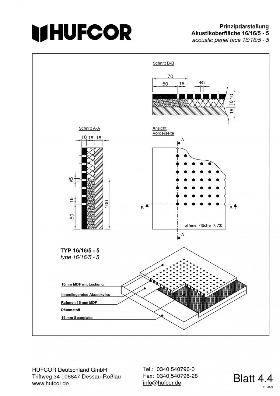 Pagina 73 - Pereti amovibili HUFCOR Fisa tehnica Engleza, Germana hinsichtlich Belastbarkeit,...