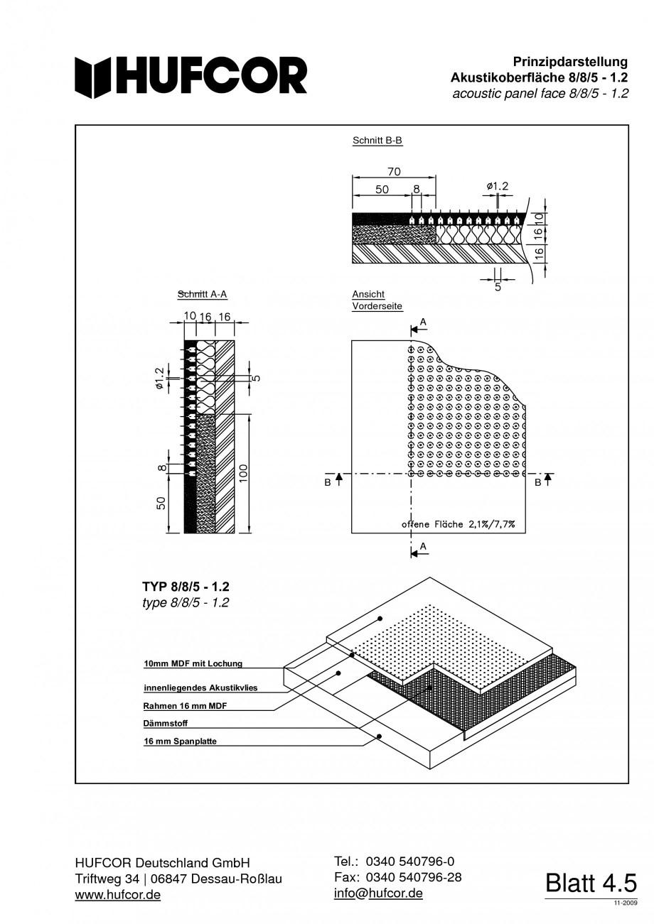 Pagina 74 - Pereti amovibili HUFCOR Fisa tehnica Engleza, Germana 00 535 72 Kto. 36 000 707...