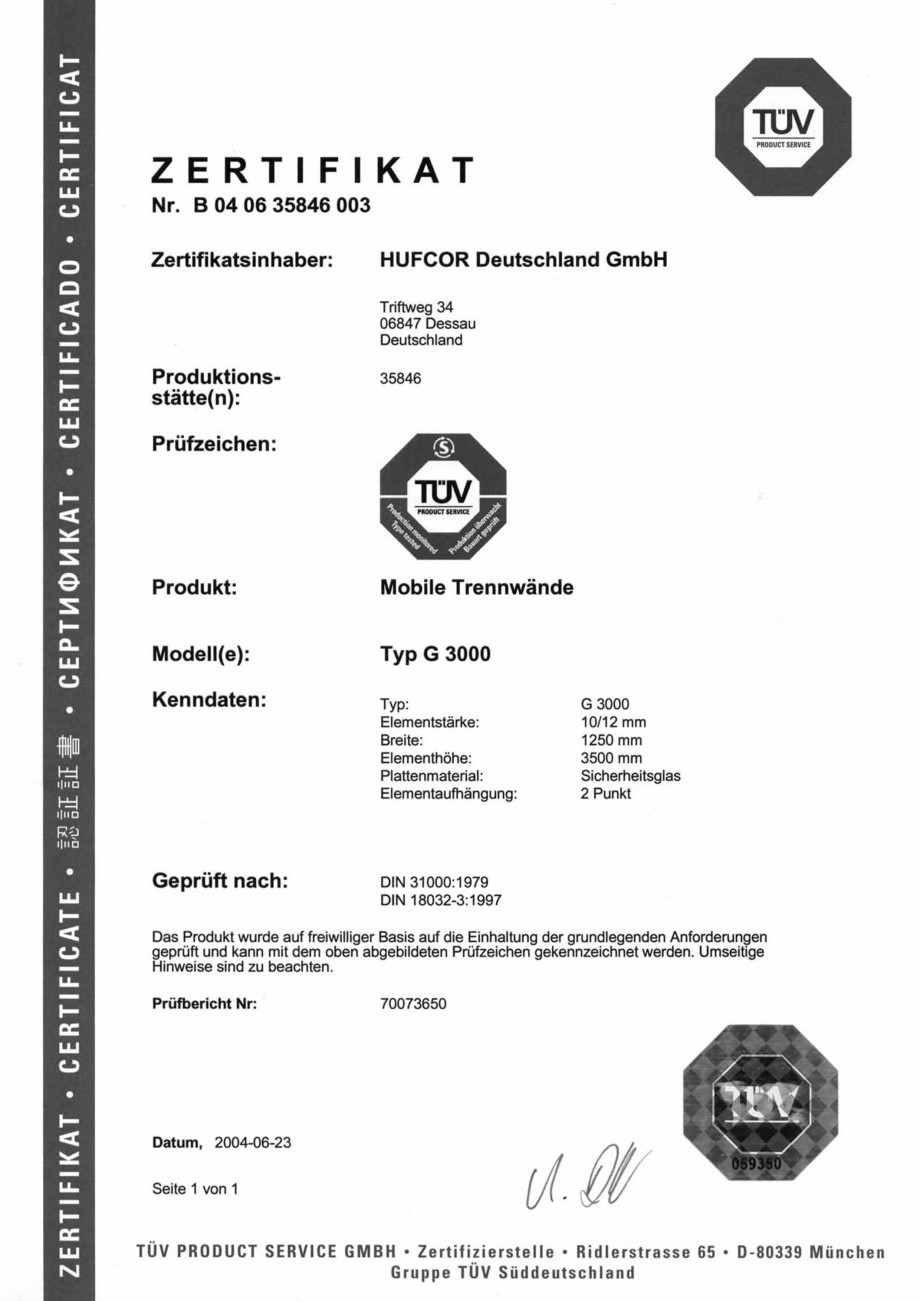 Pagina 82 - Pereti amovibili HUFCOR Fisa tehnica Engleza, Germana agerte Aufhängung. Rollenkörper ...