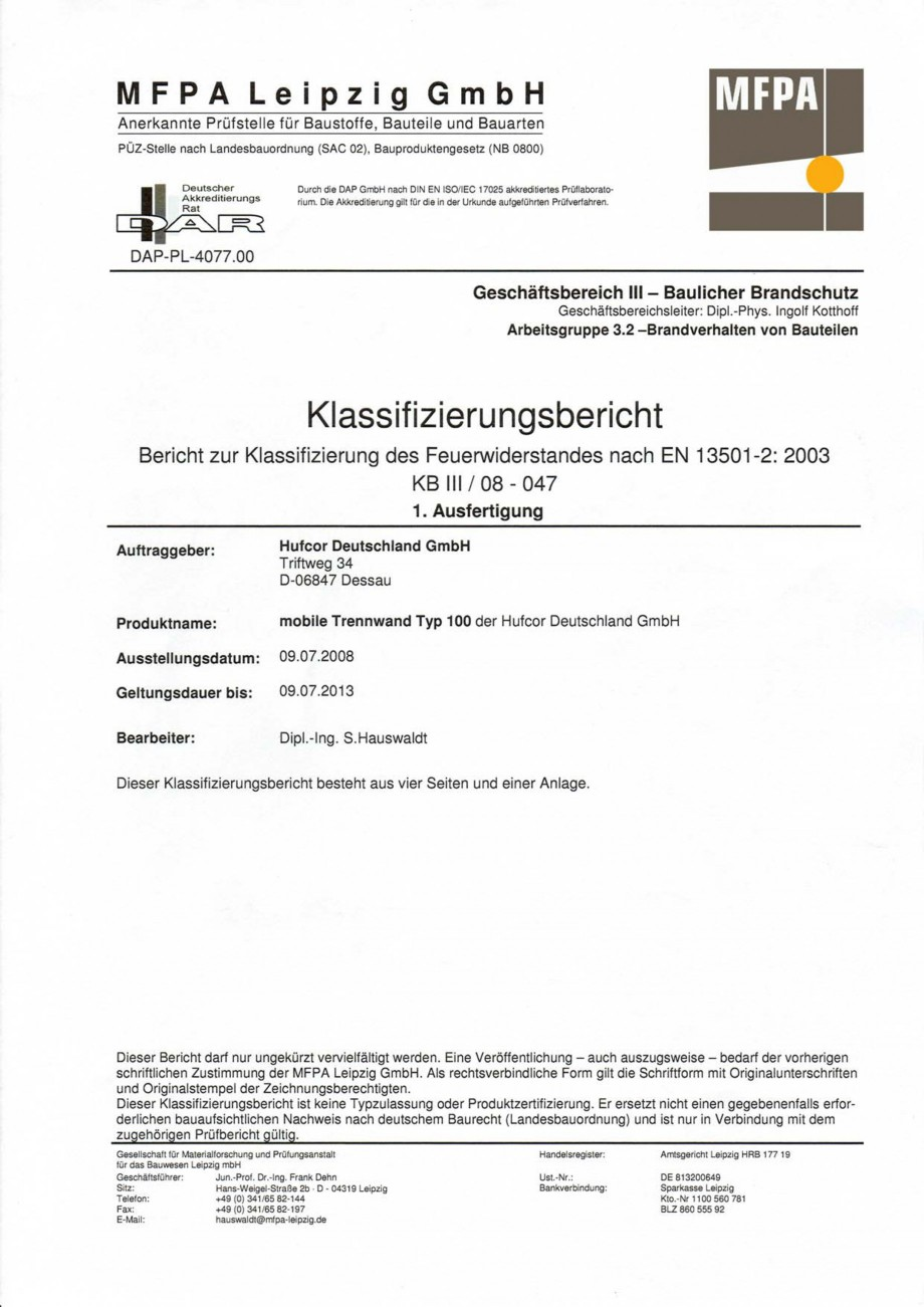 Pagina 83 - Pereti amovibili HUFCOR Fisa tehnica Engleza, Germana ene und die angrenzenden Bauteile ...