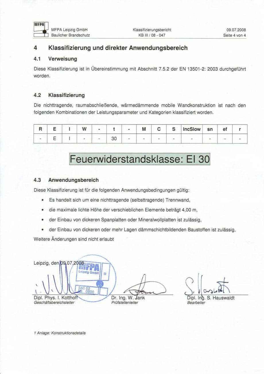 Pagina 86 - Pereti amovibili HUFCOR Fisa tehnica Engleza, Germana justierung, Alu-Profile und...