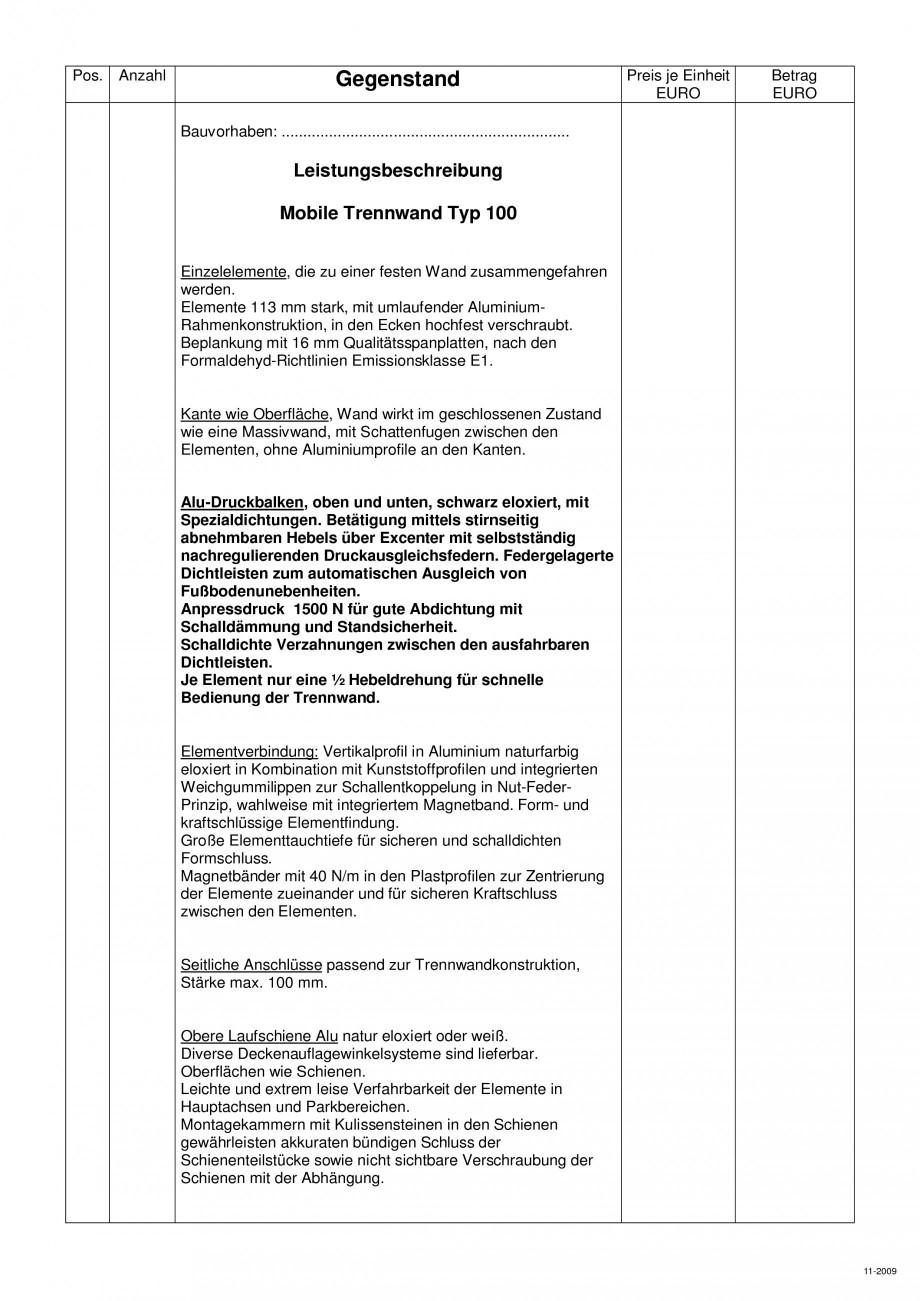 Pagina 99 - Pereti amovibili HUFCOR Fisa tehnica Engleza, Germana