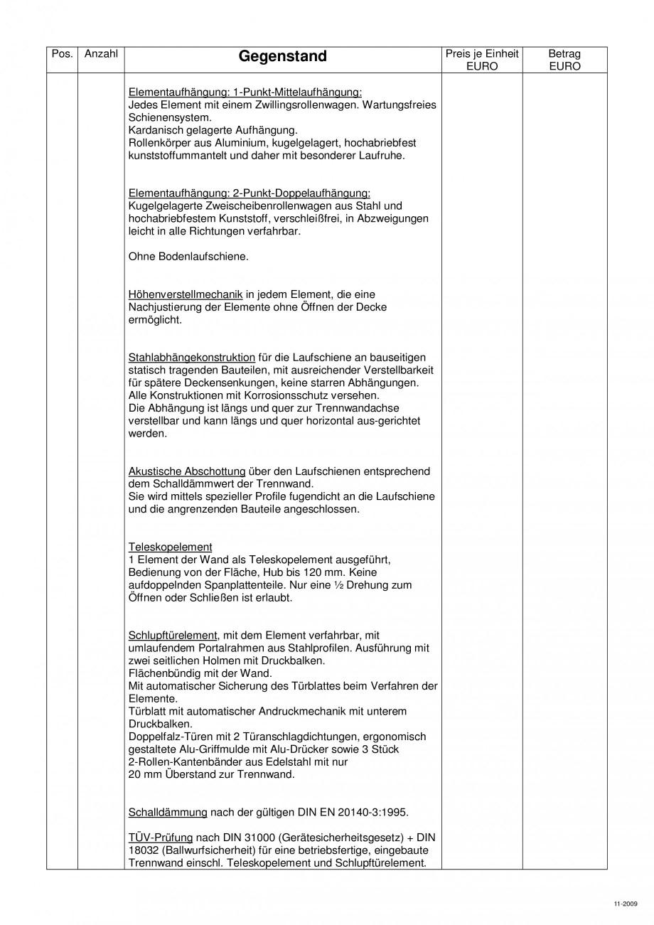 Pagina 100 - Pereti amovibili HUFCOR Fisa tehnica Engleza, Germana