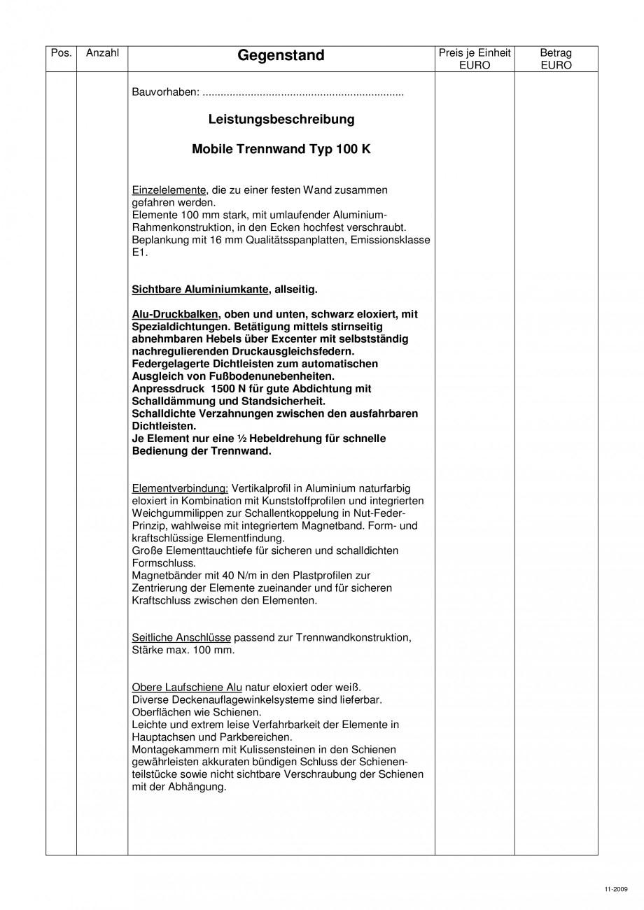 Pagina 102 - Pereti amovibili HUFCOR Fisa tehnica Engleza, Germana