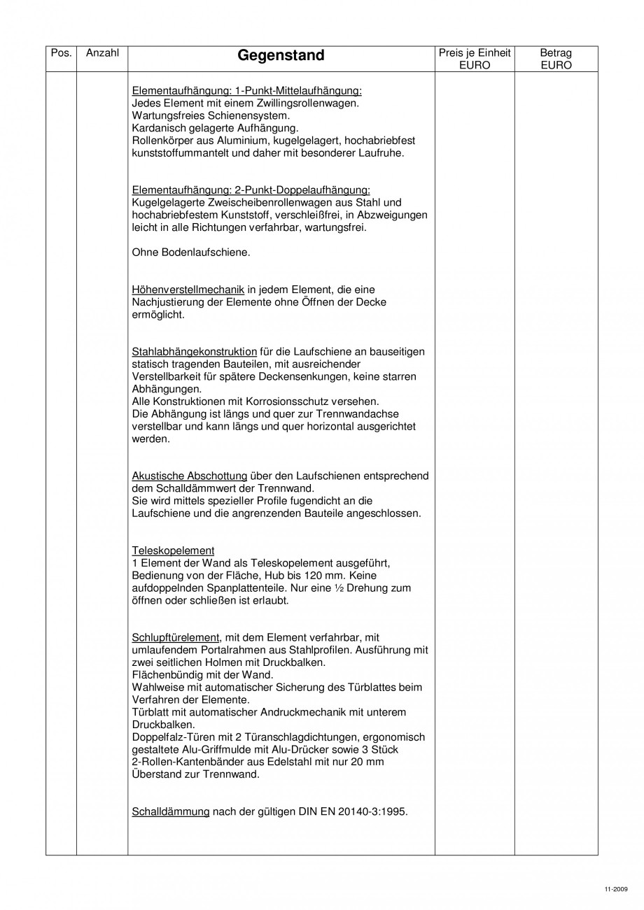 Pagina 103 - Pereti amovibili HUFCOR Fisa tehnica Engleza, Germana