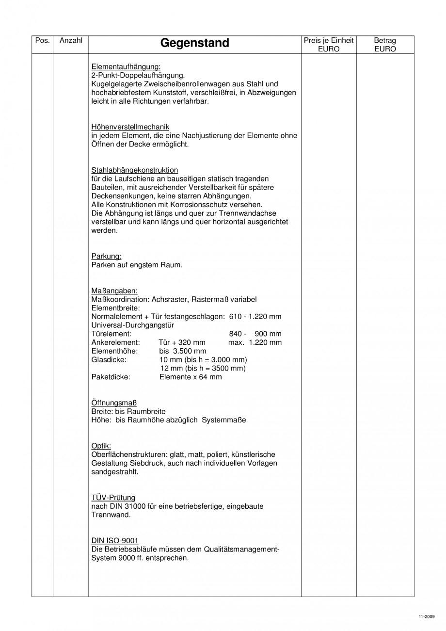 Pagina 106 - Pereti amovibili HUFCOR Fisa tehnica Engleza, Germana