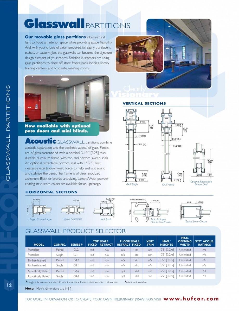 Pagina 12 - Caracteristicile tehnice pentru peretii amovibili  HUFCOR Fisa tehnica Engleza td opt...
