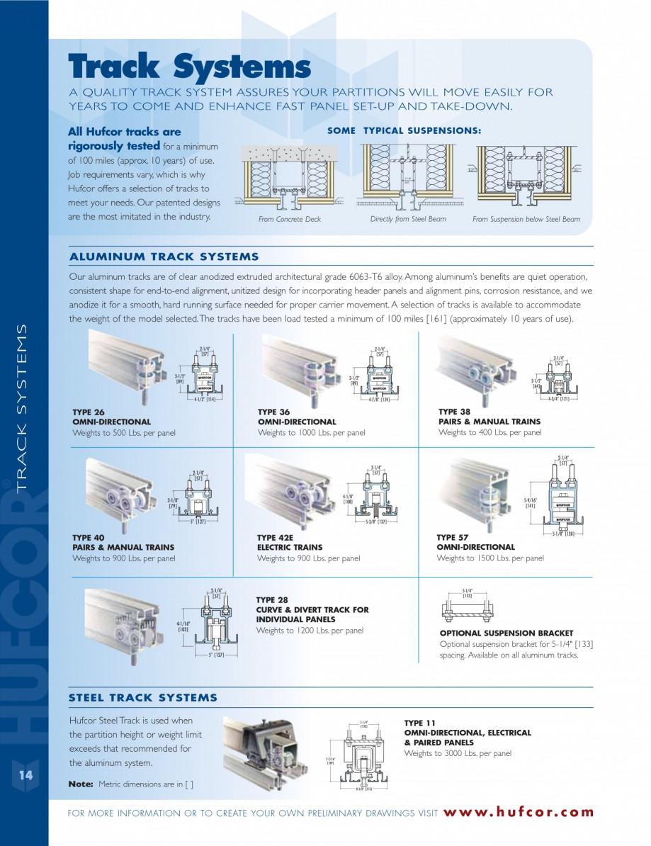 Pagina 14 - Caracteristicile tehnice pentru peretii amovibili  HUFCOR Fisa tehnica Engleza  training...