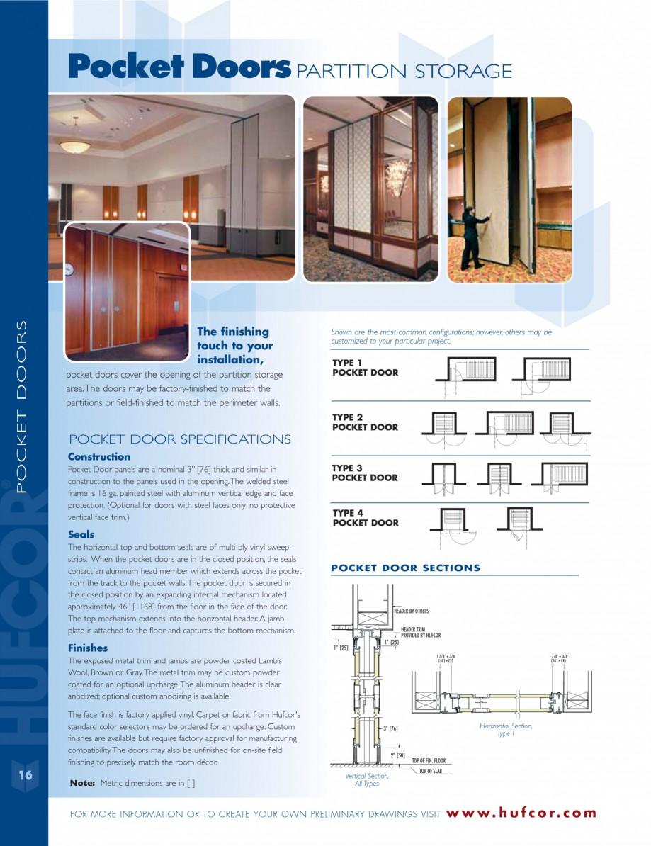 Pagina 16 - Caracteristicile tehnice pentru peretii amovibili  HUFCOR Fisa tehnica Engleza...