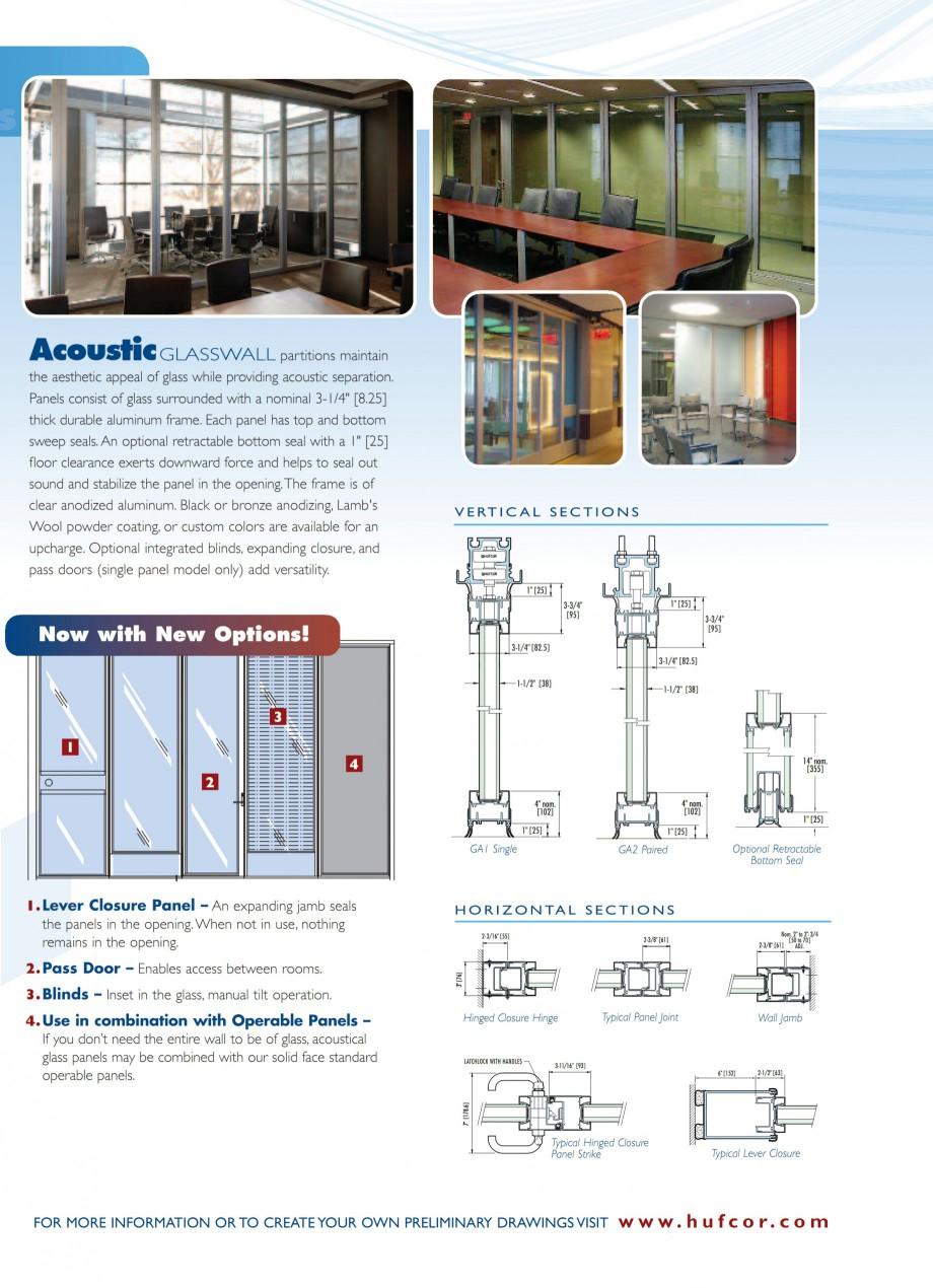 Pagina 4 - Pereti amovibili din sticla HUFCOR Catalog, brosura Engleza presentative for details. ...