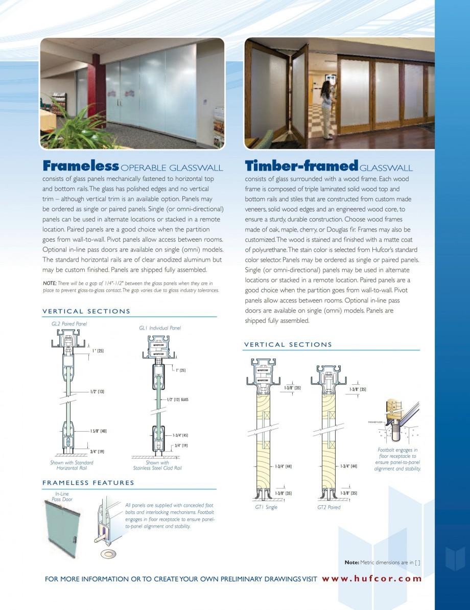 Pagina 5 - Pereti amovibili din sticla HUFCOR Catalog, brosura Engleza signing glass panels into...