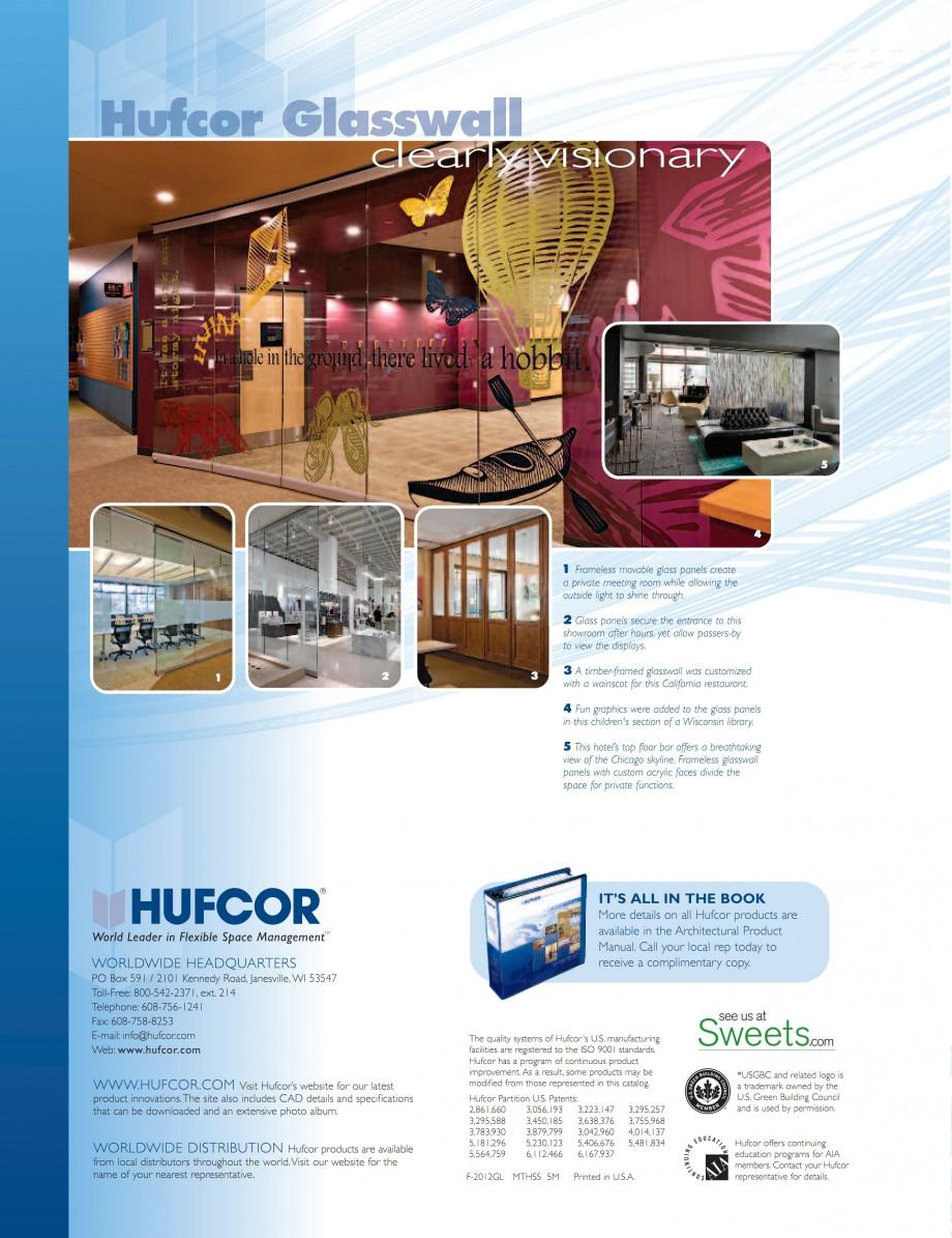Pagina 6 - Pereti amovibili din sticla HUFCOR Catalog, brosura Engleza or.com  WWW.HUFCOR.COM  Visit...