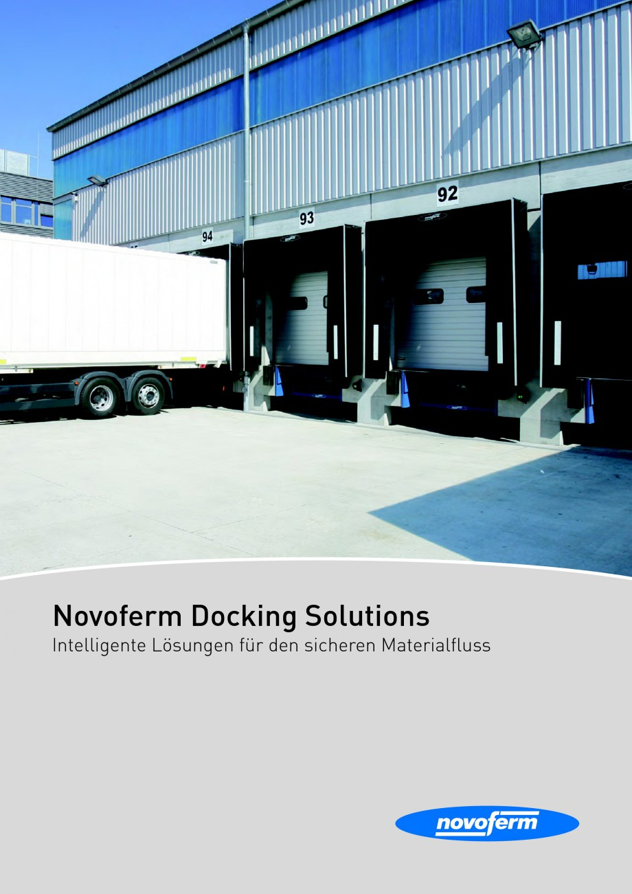 Pagina 1 - Rampe de incarcare, descarcare NOVOFERM NovoDock L300, NovoDock H1300, NovoDock H1500,...