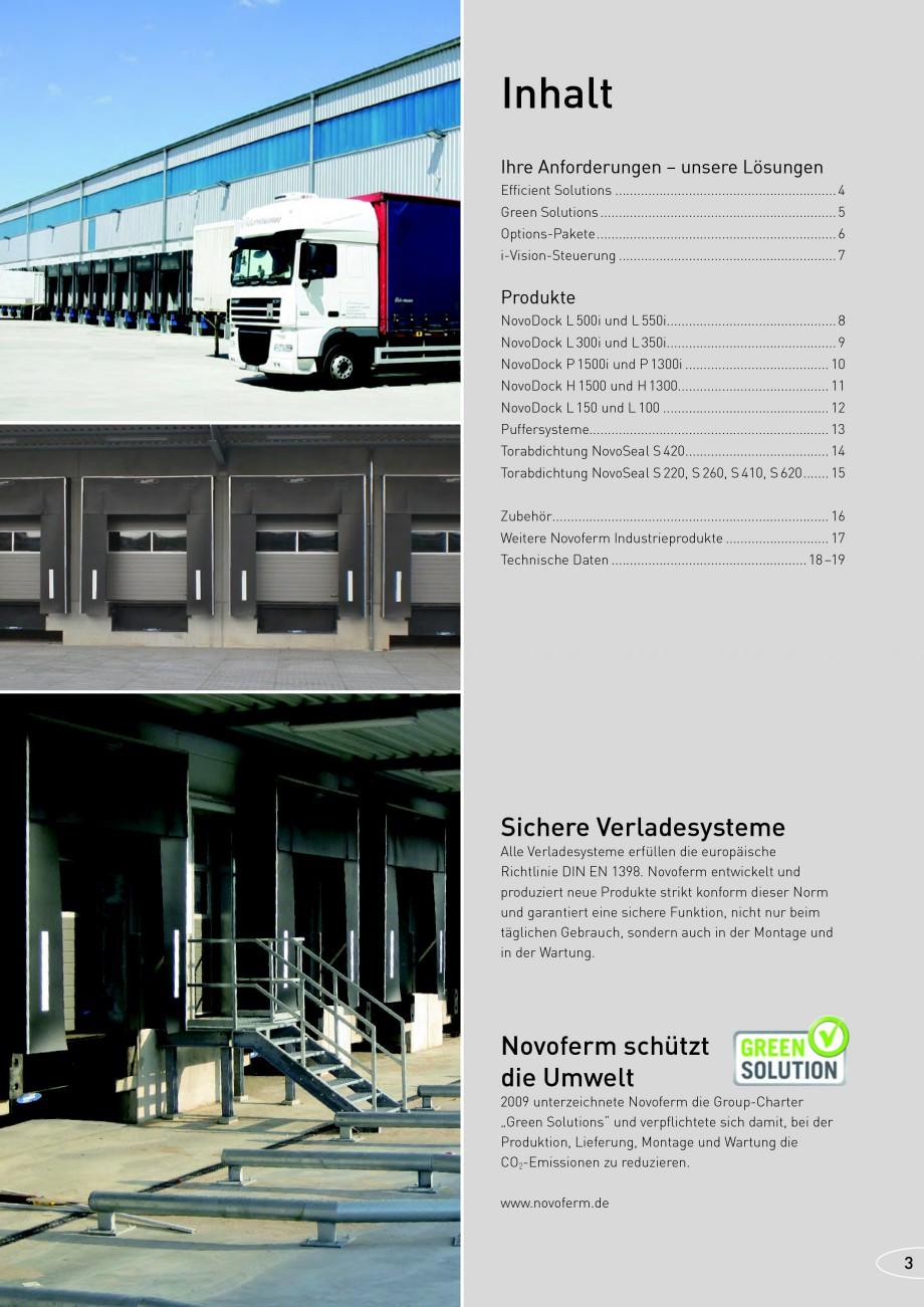 Pagina 3 - Rampe de incarcare, descarcare NOVOFERM NovoDock L300, NovoDock H1300, NovoDock H1500,...