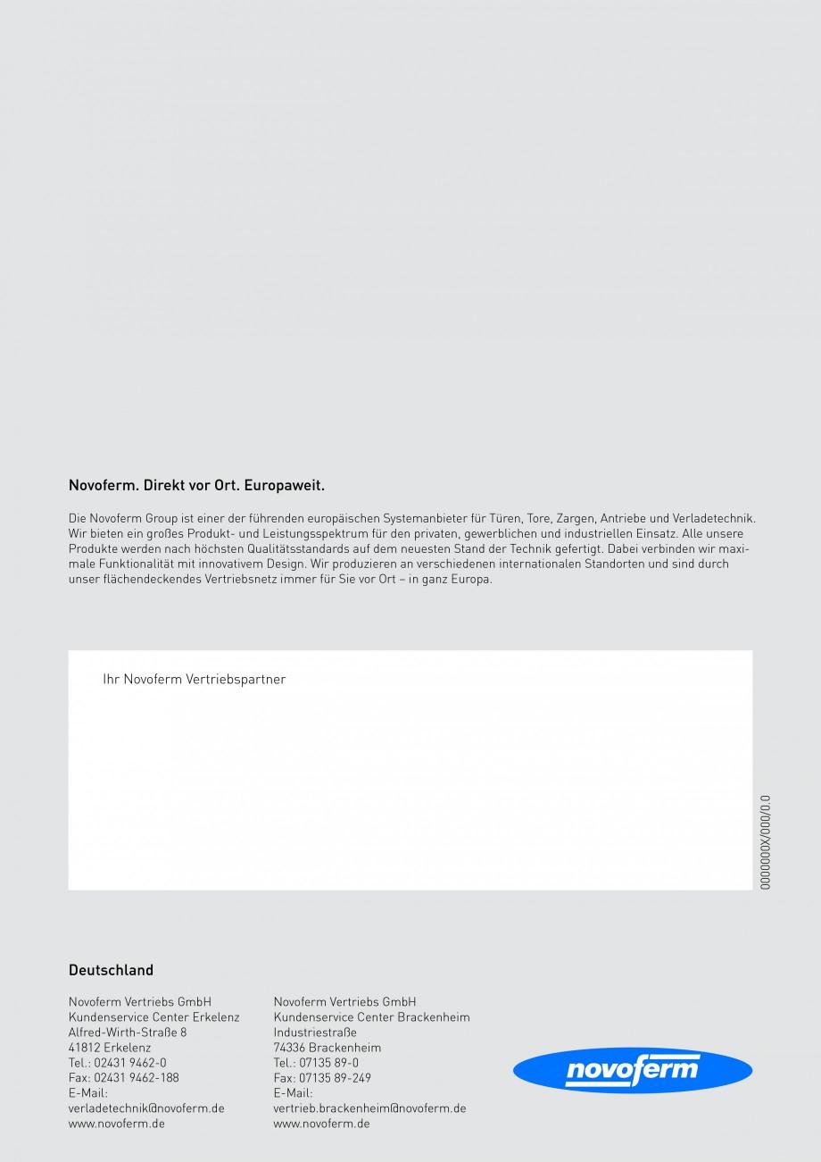 Pagina 20 - Rampe de incarcare, descarcare NOVOFERM NovoDock L300, NovoDock H1300, NovoDock H1500,...
