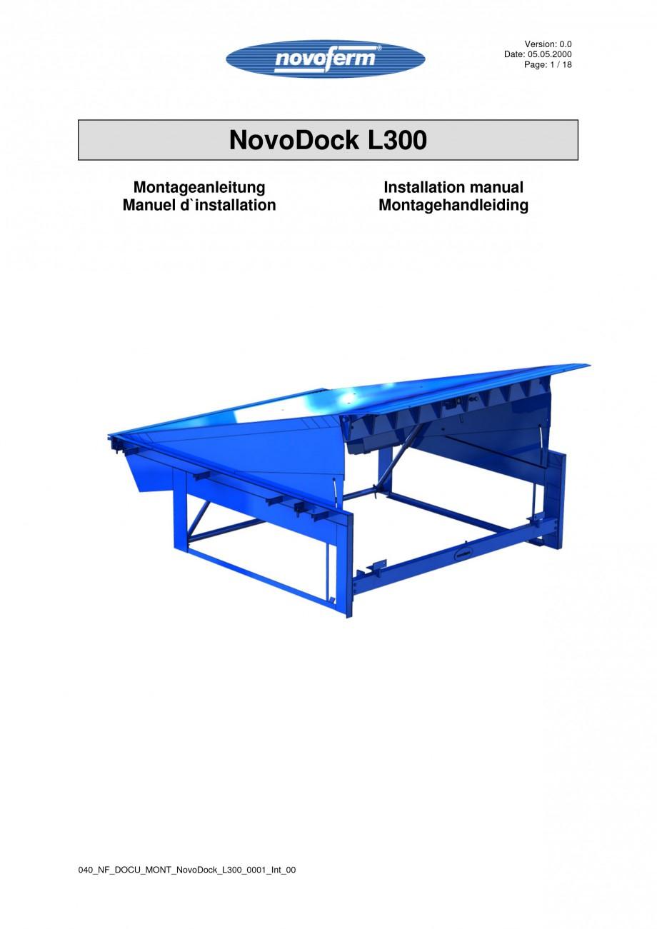 Pagina 1 - Rampe de incarcare, descarcare  NOVOFERM NovoDock L300 Instructiuni montaj, utilizare...