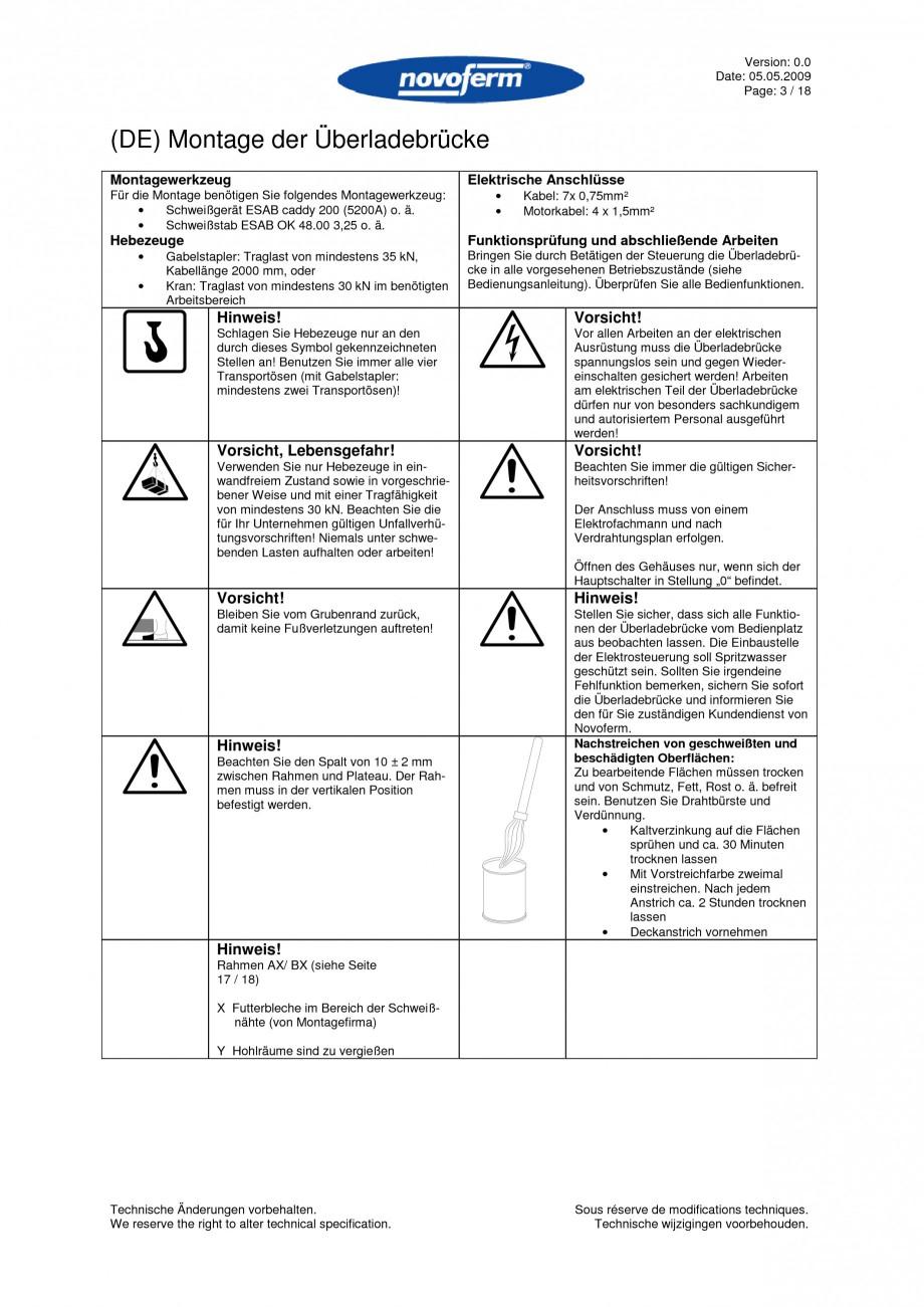 Pagina 3 - Rampe de incarcare, descarcare  NOVOFERM NovoDock L300 Instructiuni montaj, utilizare...